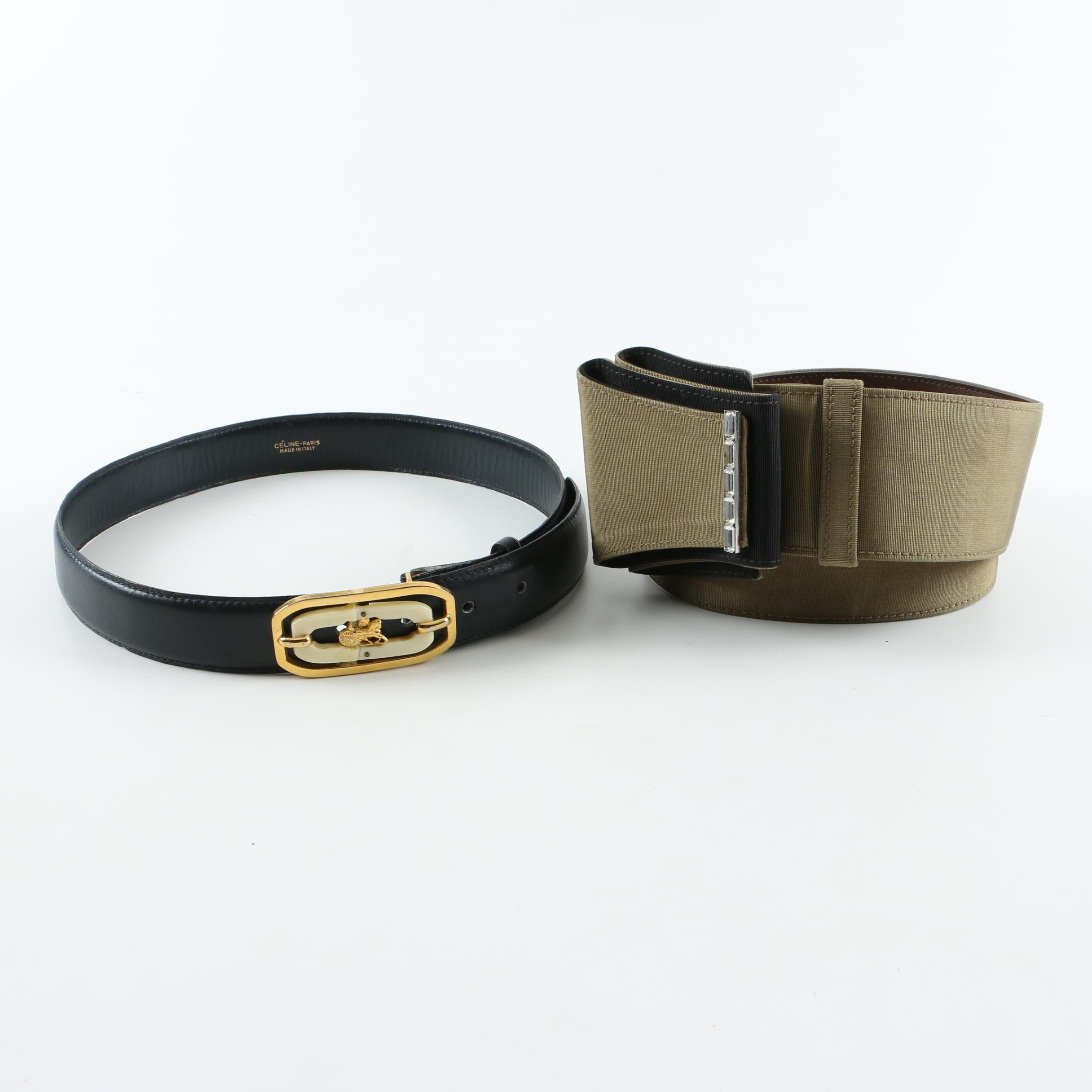 Celine and Gianni Versace Belts