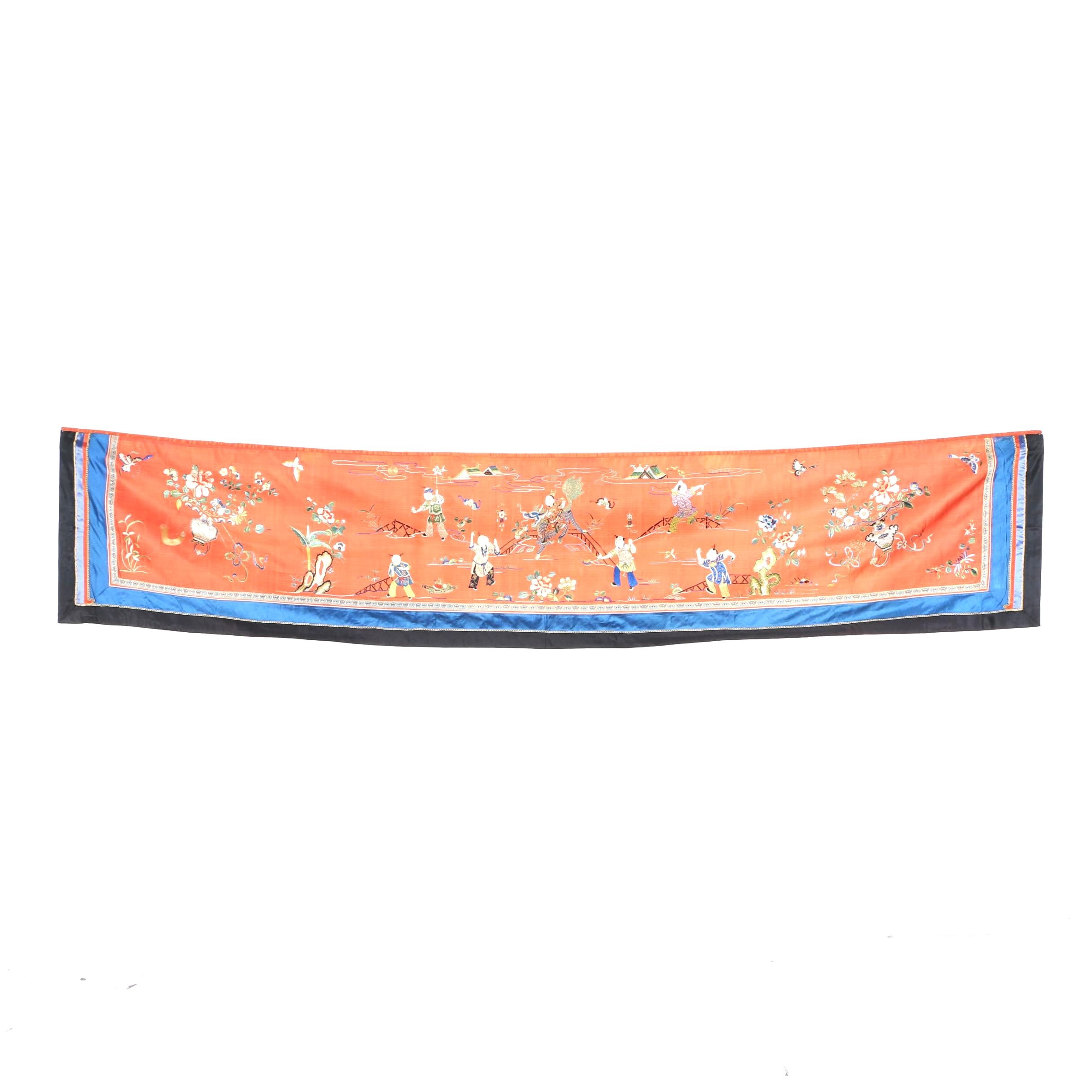 Chinese Embroidered Wall Hanging