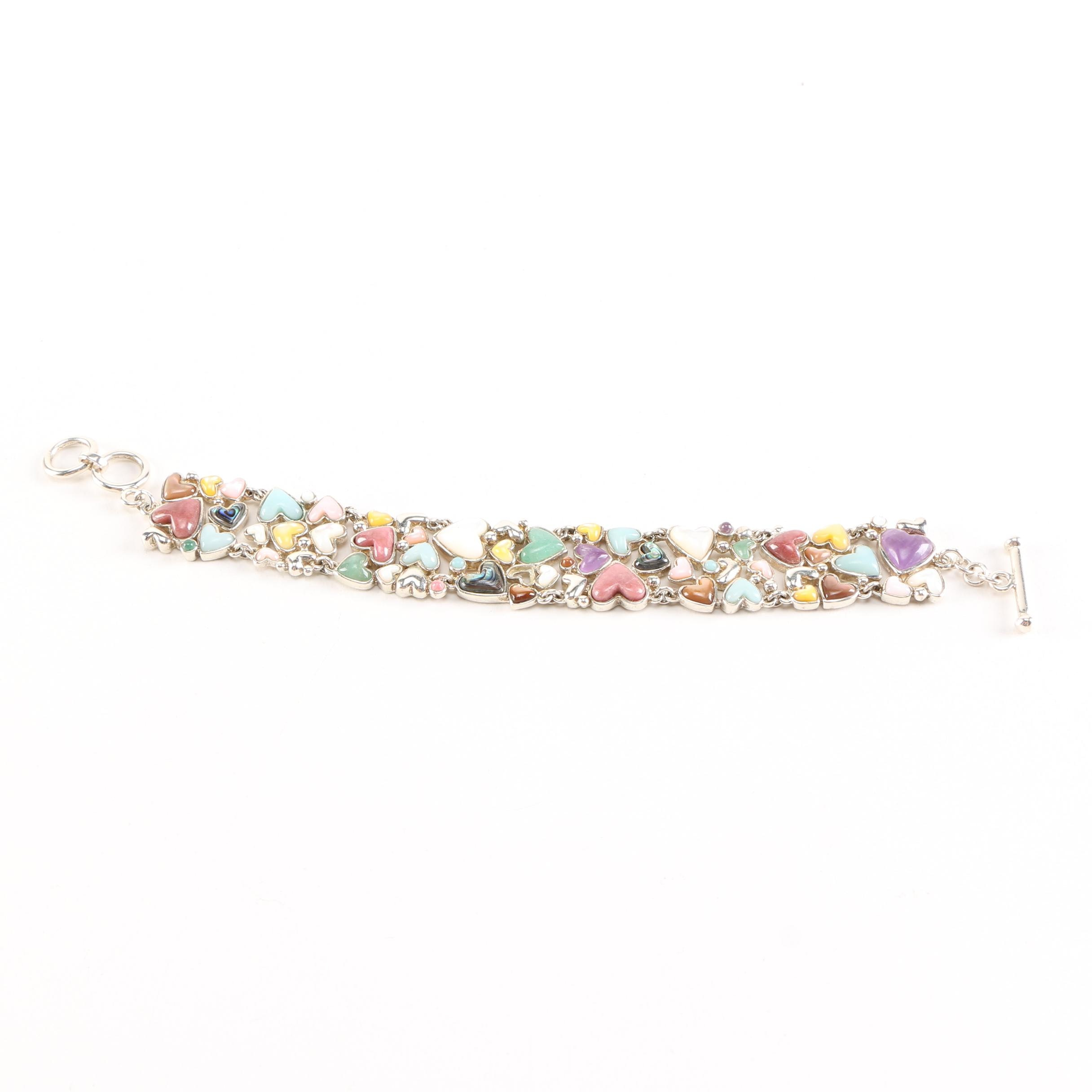 Whitney King Sterling Silver Bracelet with Gemstone Accents