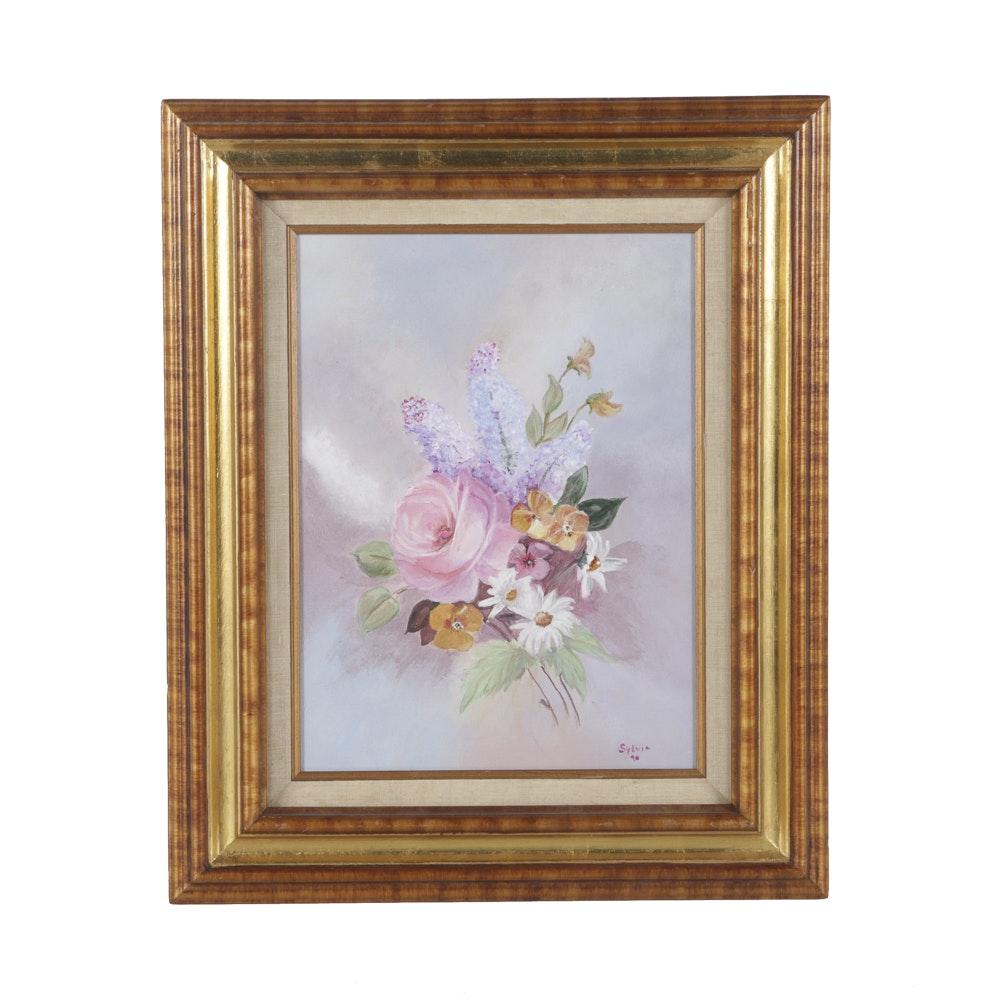 Sylvia Oil Painting on Canvas Floral Still Life