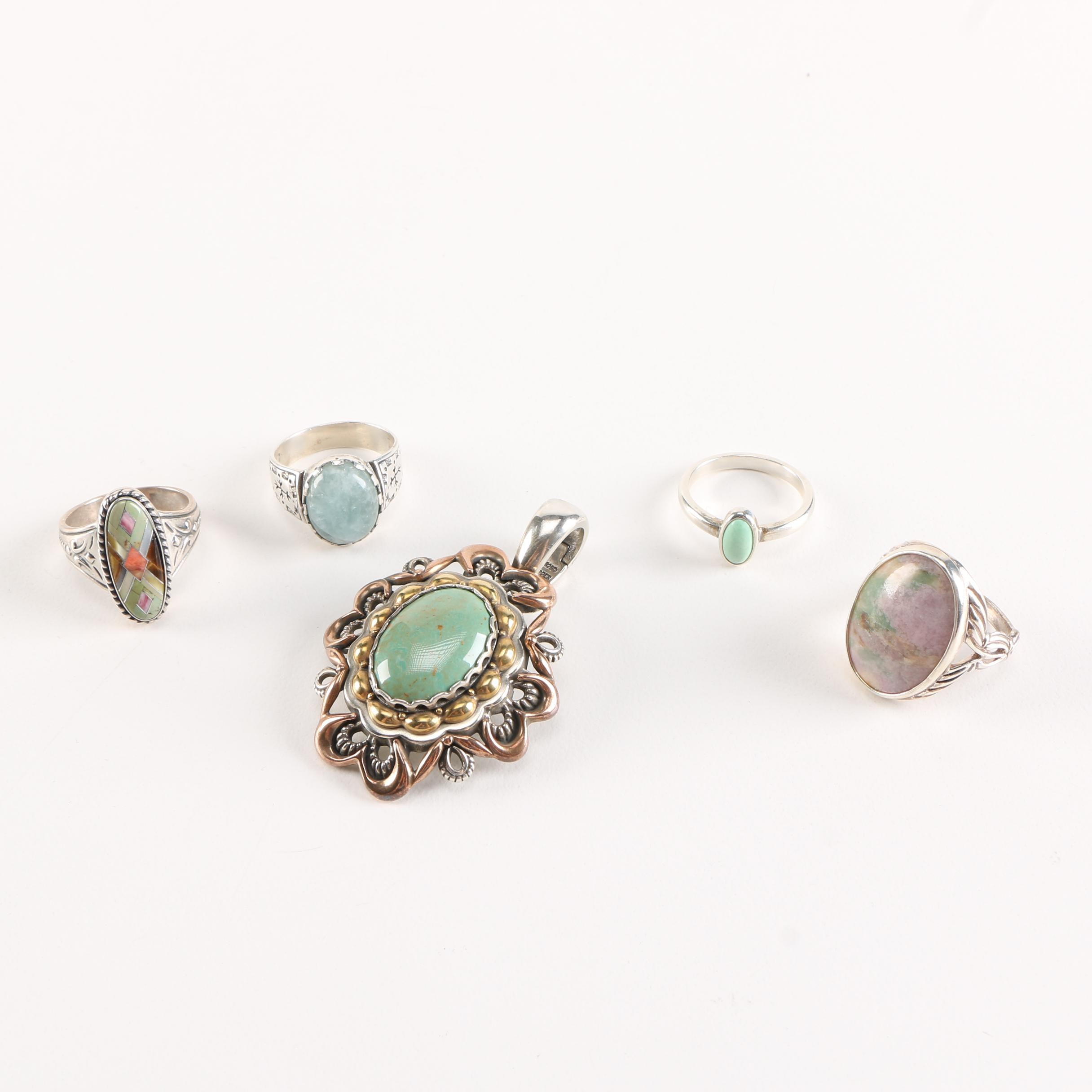 Carolyn Pollack Relios Sterling Silver Jewelry With Gemstones