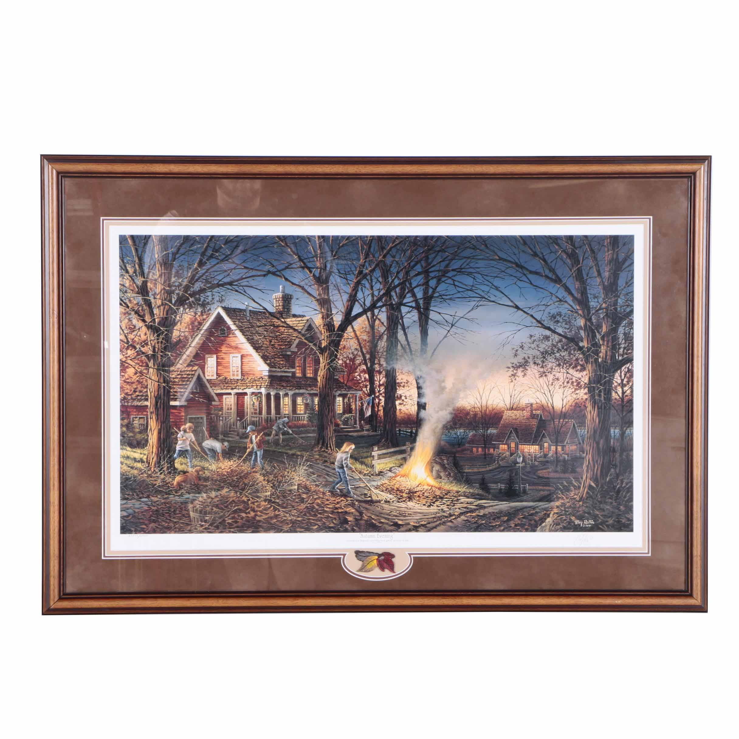 """Limited Edition Offset Lithograph After Terry Redlin """"Autumn Evening"""""""