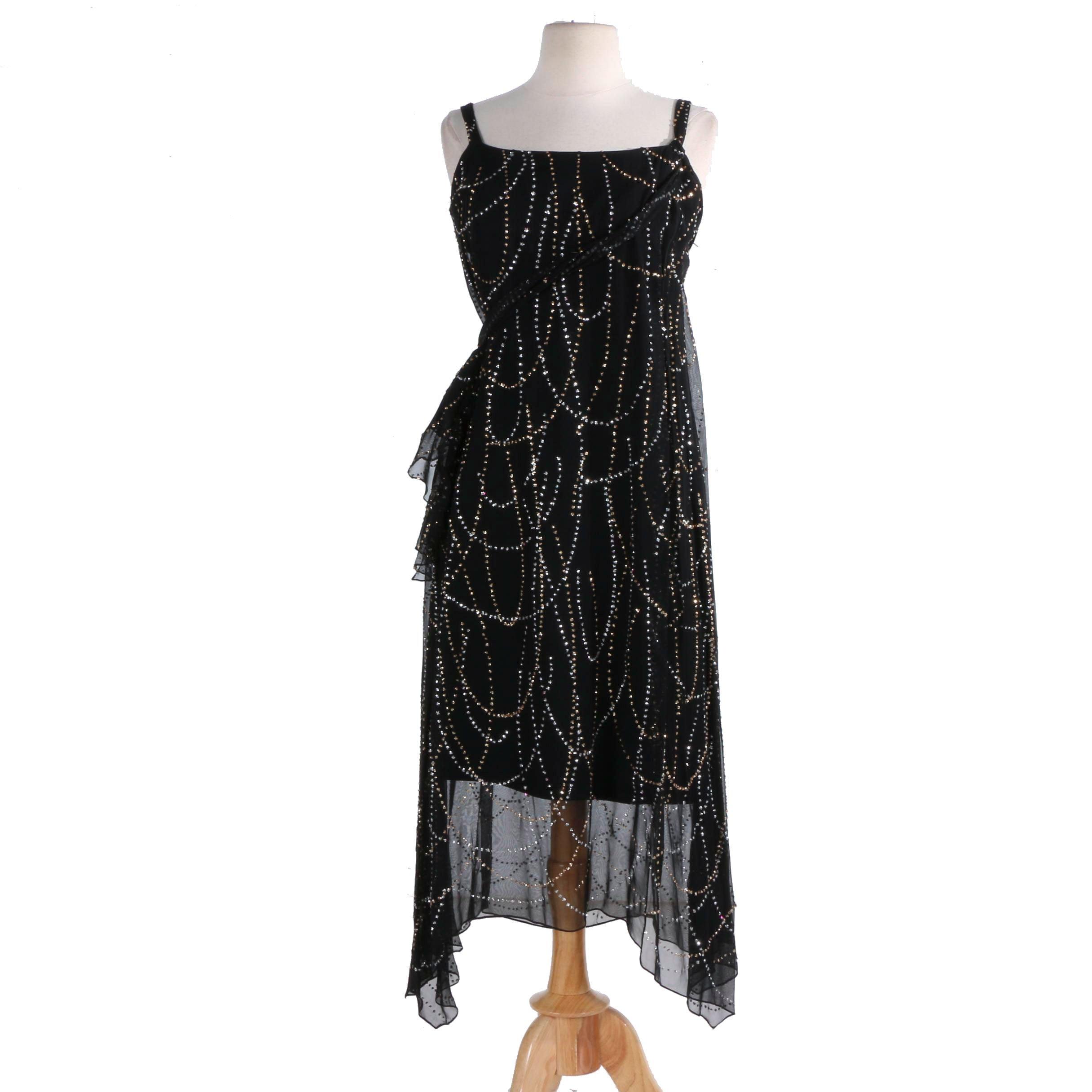 Pauline Trigere Sequined Dress