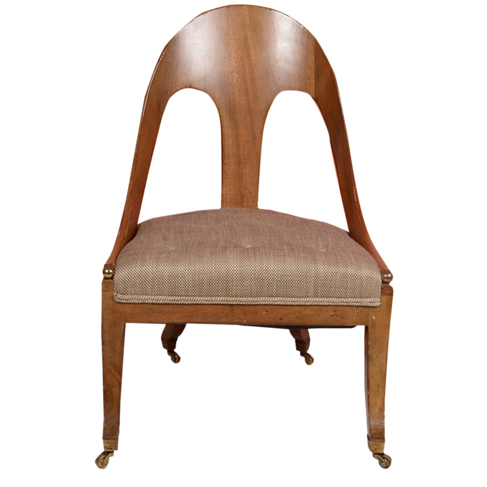 Mid-Century Modern Style Spoon Back Slipper Chair