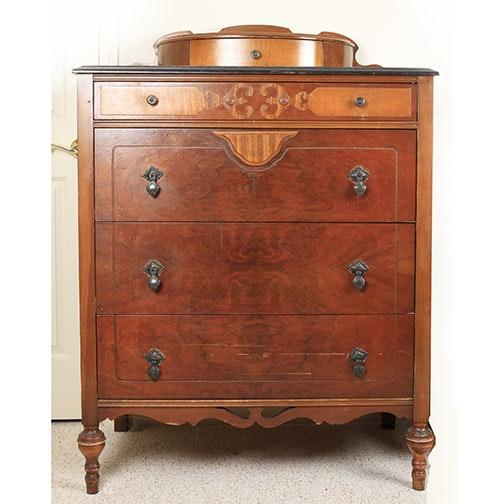 Vintage Ornate Gentlemanu0027s Dresser