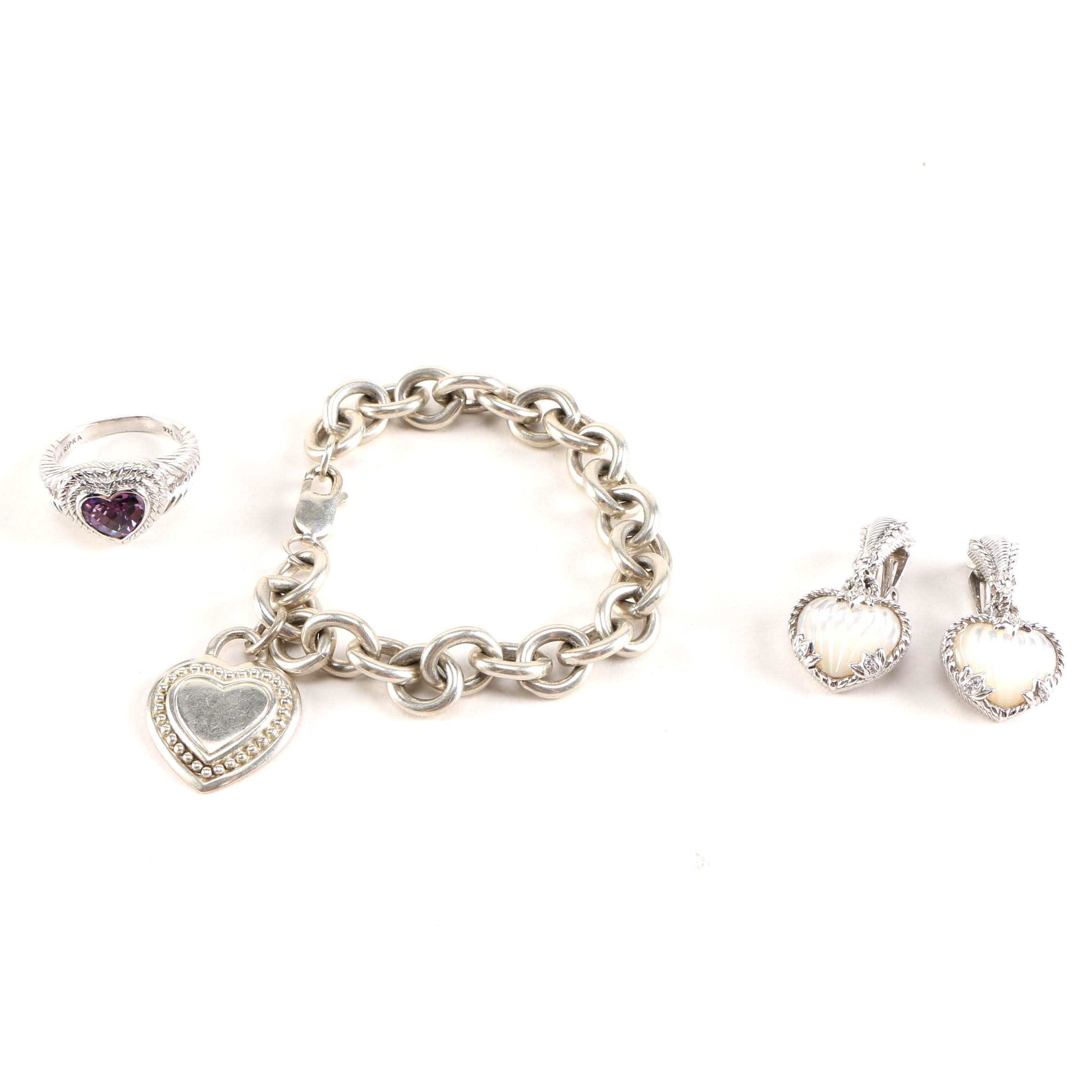 Judith Ripka Sterling Silver Jewelry Assortment With Gemstones