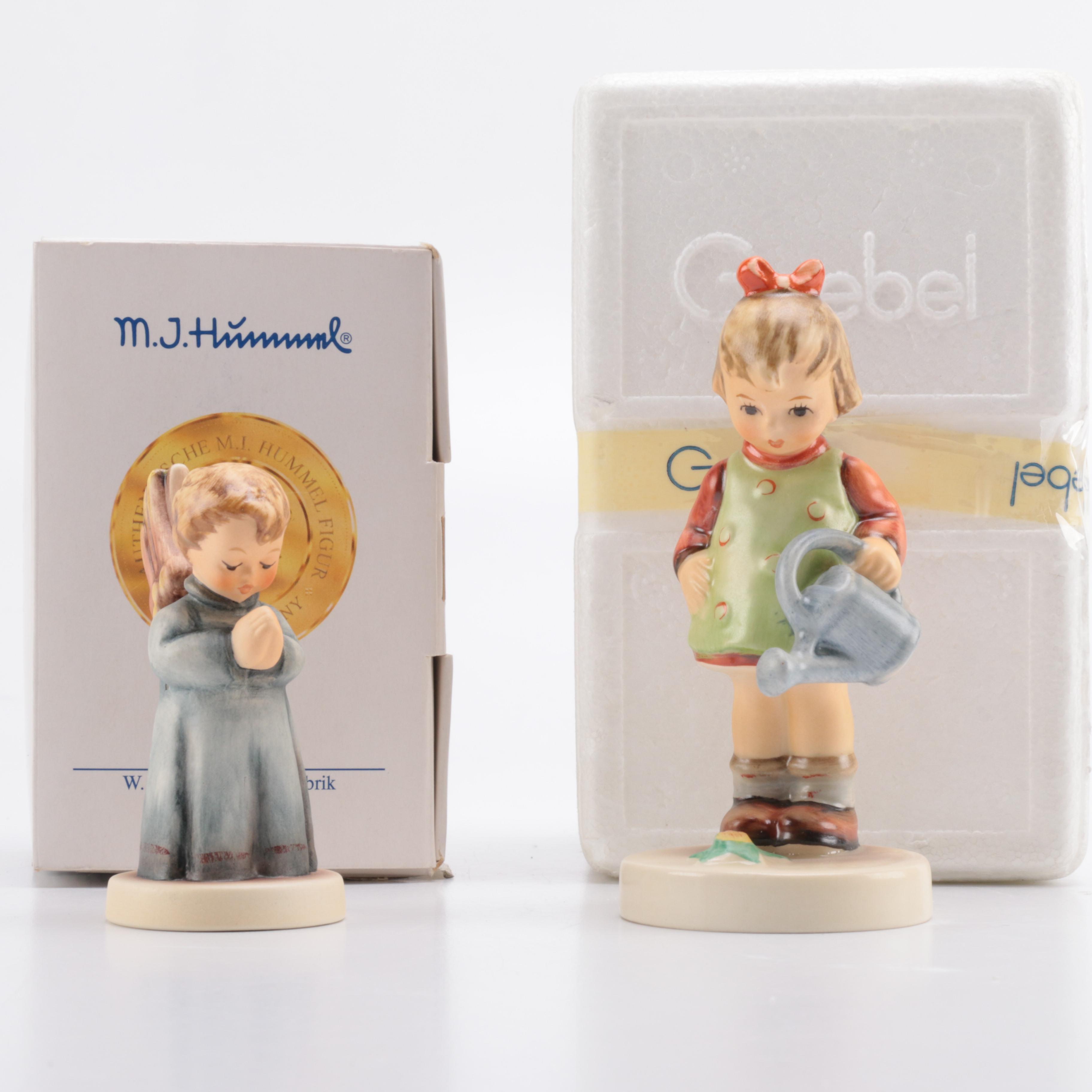 "Goebel Hummel Figurines ""Thanksgiving Prayer"" and ""Little Gardener"""