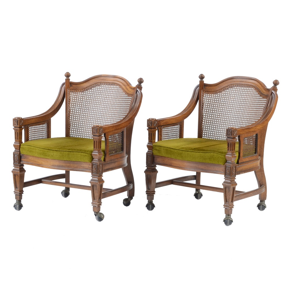 Vintage Cane Back Arm Chairs