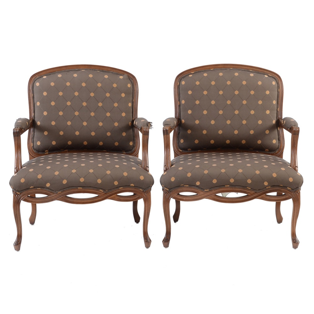 Pair of French Style Lounge Chairs by Sherrill