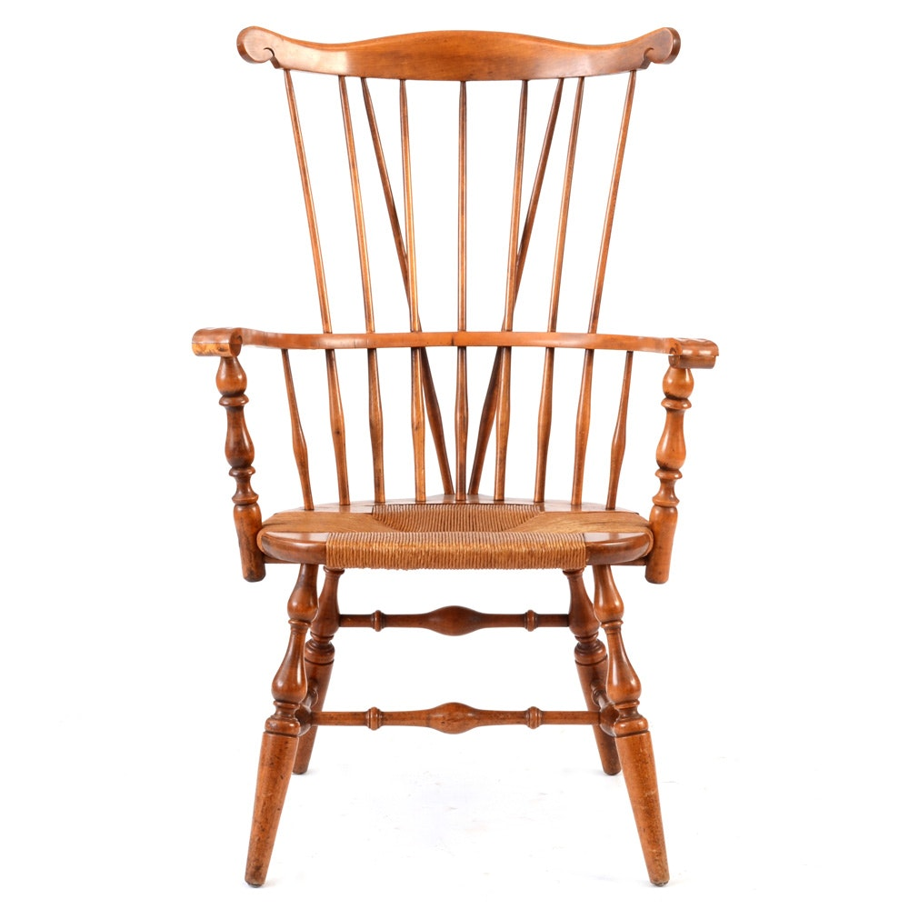 Nichols and Stone Maple Windsor Arm Chair