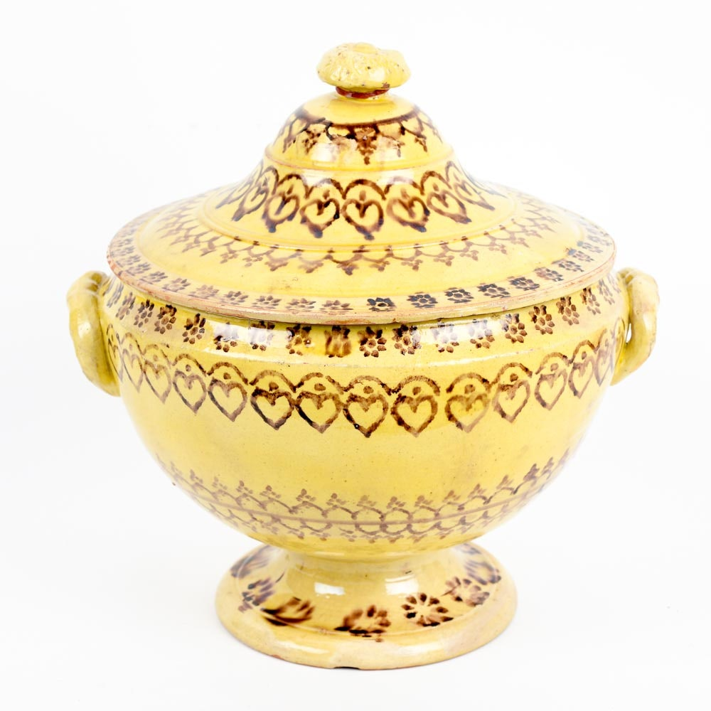 A Decorated Yellowware from Elinor Merrell.