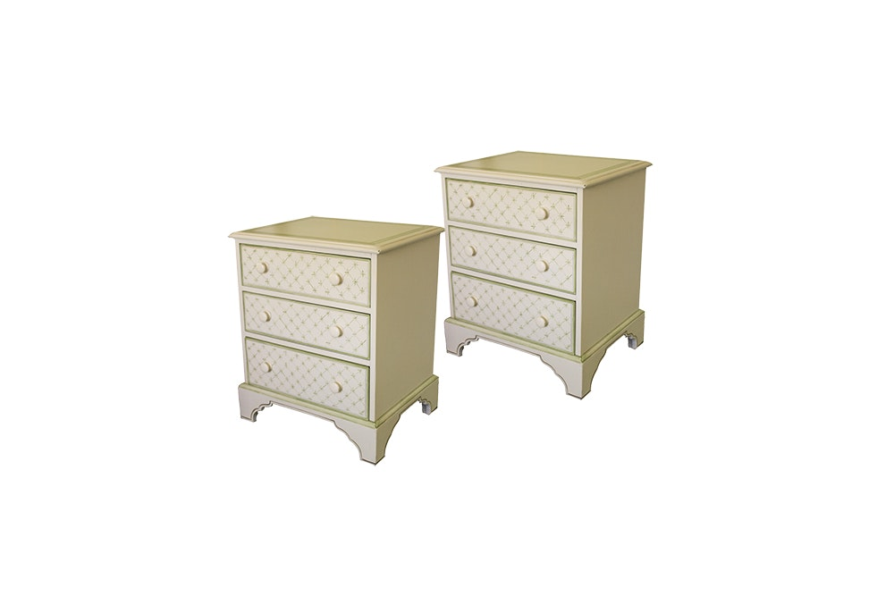 Painted Three-Drawer Nightstands