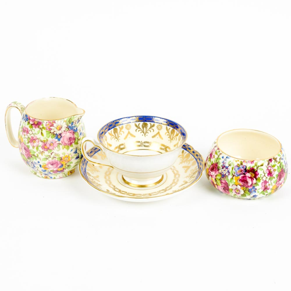 "Royal Winton ""Summertime"" and Royal Grafton Fine Bone China"