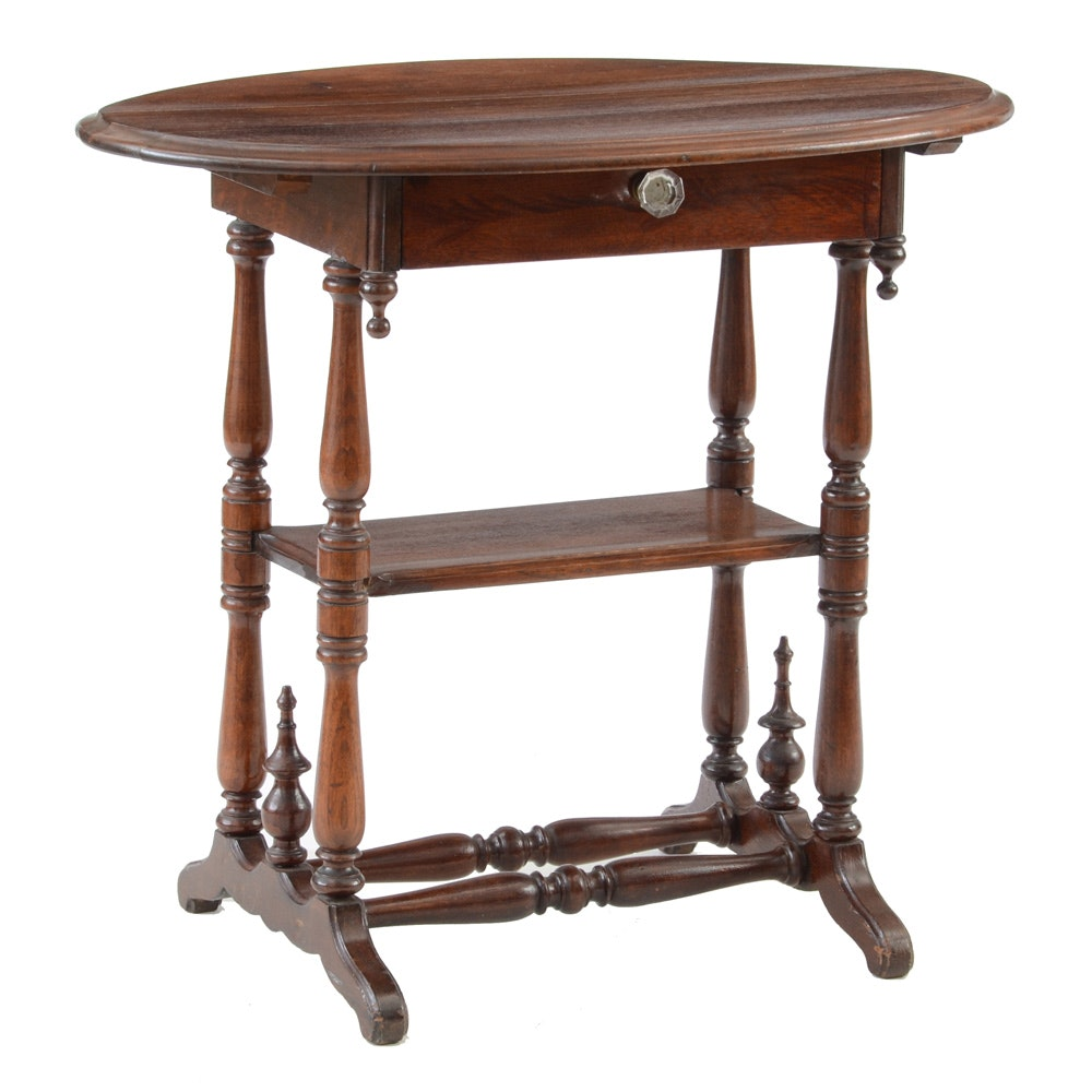 Antique Oval Side Table