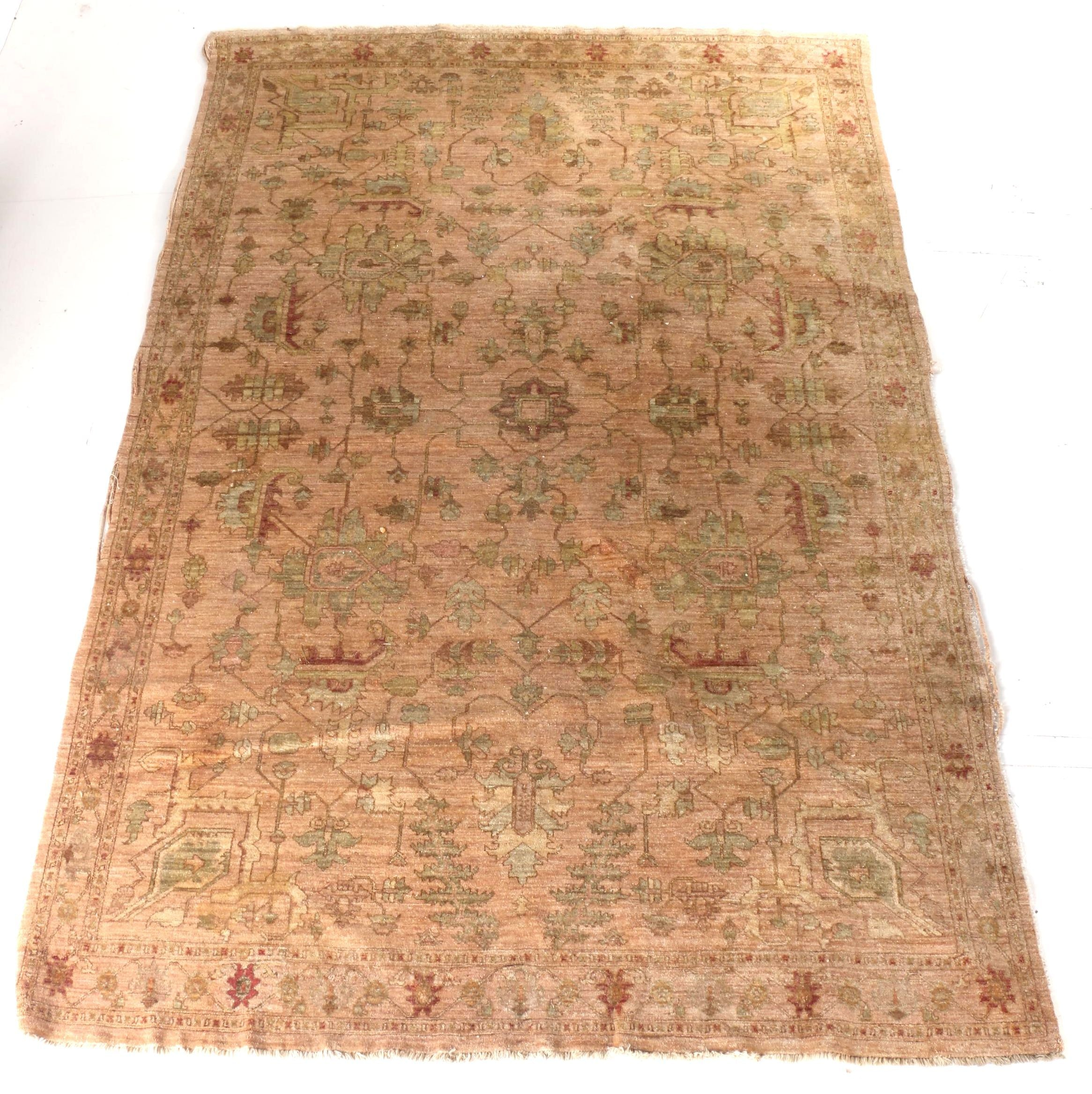 Hand-Knotted Indo-Peshawar Area Rug