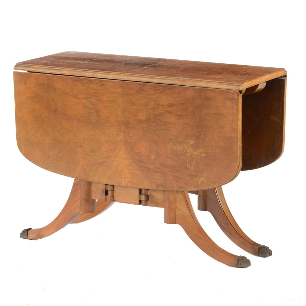 Duncan Phyfe Style Small Drop Leaf Table