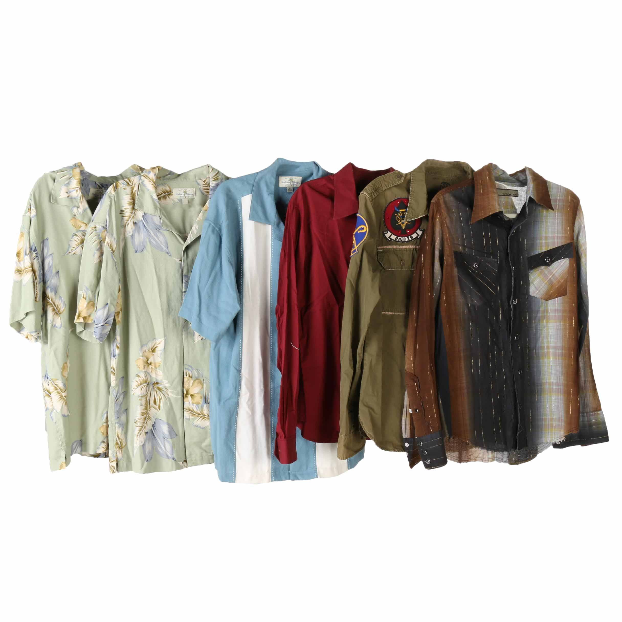 Men's Button Up Shirts Including Island Shores
