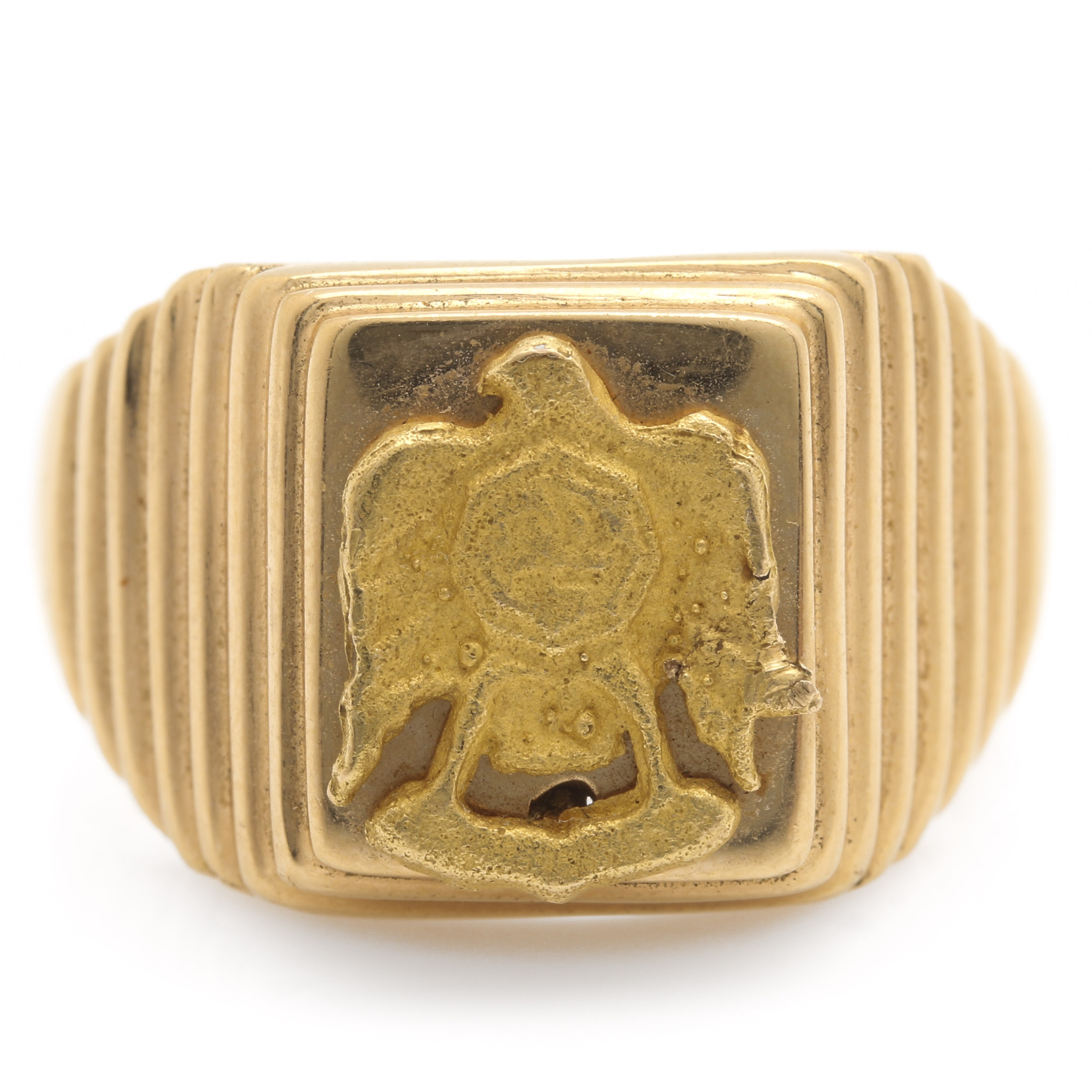 18K Yellow Gold Eagle Ring