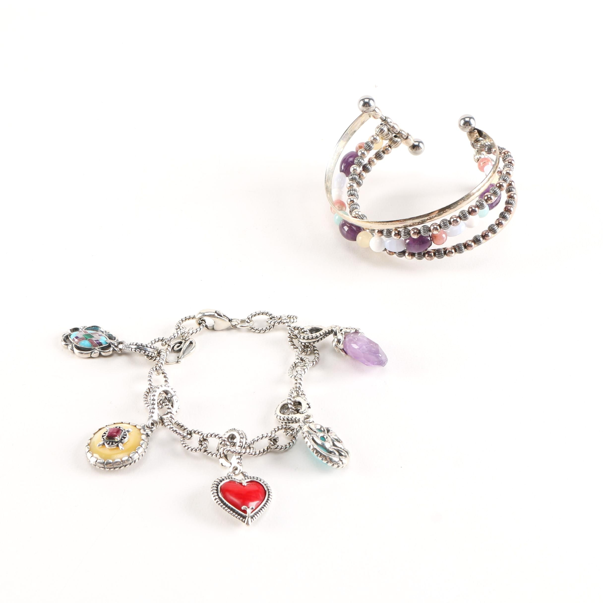 Carolyn Pollack Relios Sterling Bracelets with Gemstone Accents