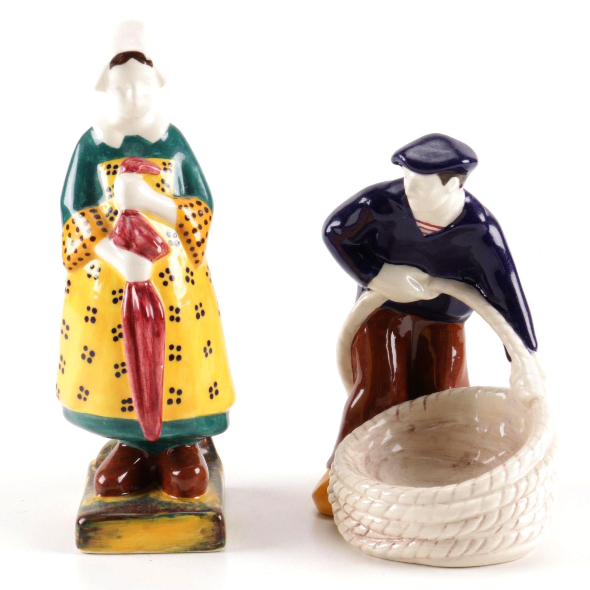Henriot Quimper Ceramic Figurines