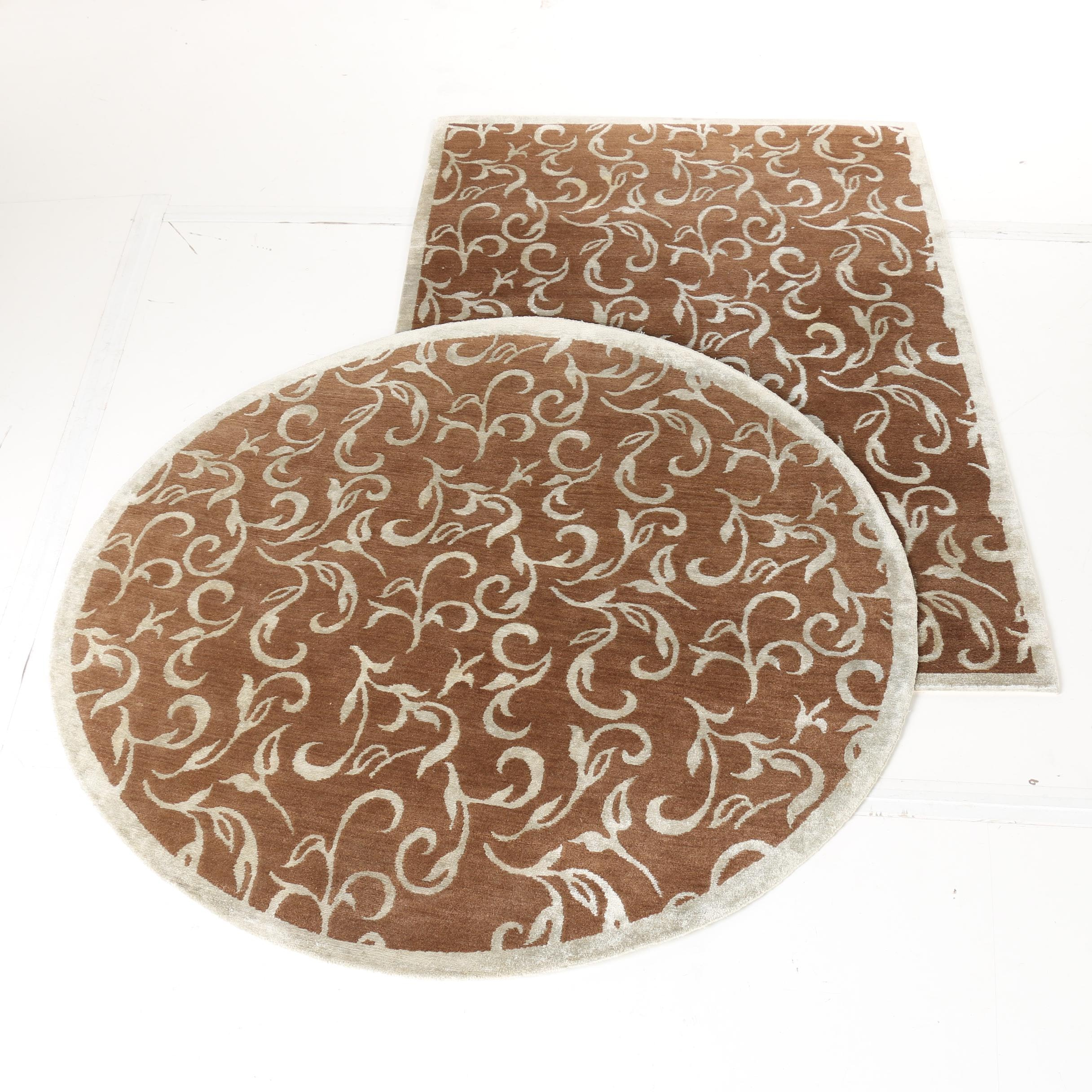 Handwoven Nepalese Silk Accent Rugs