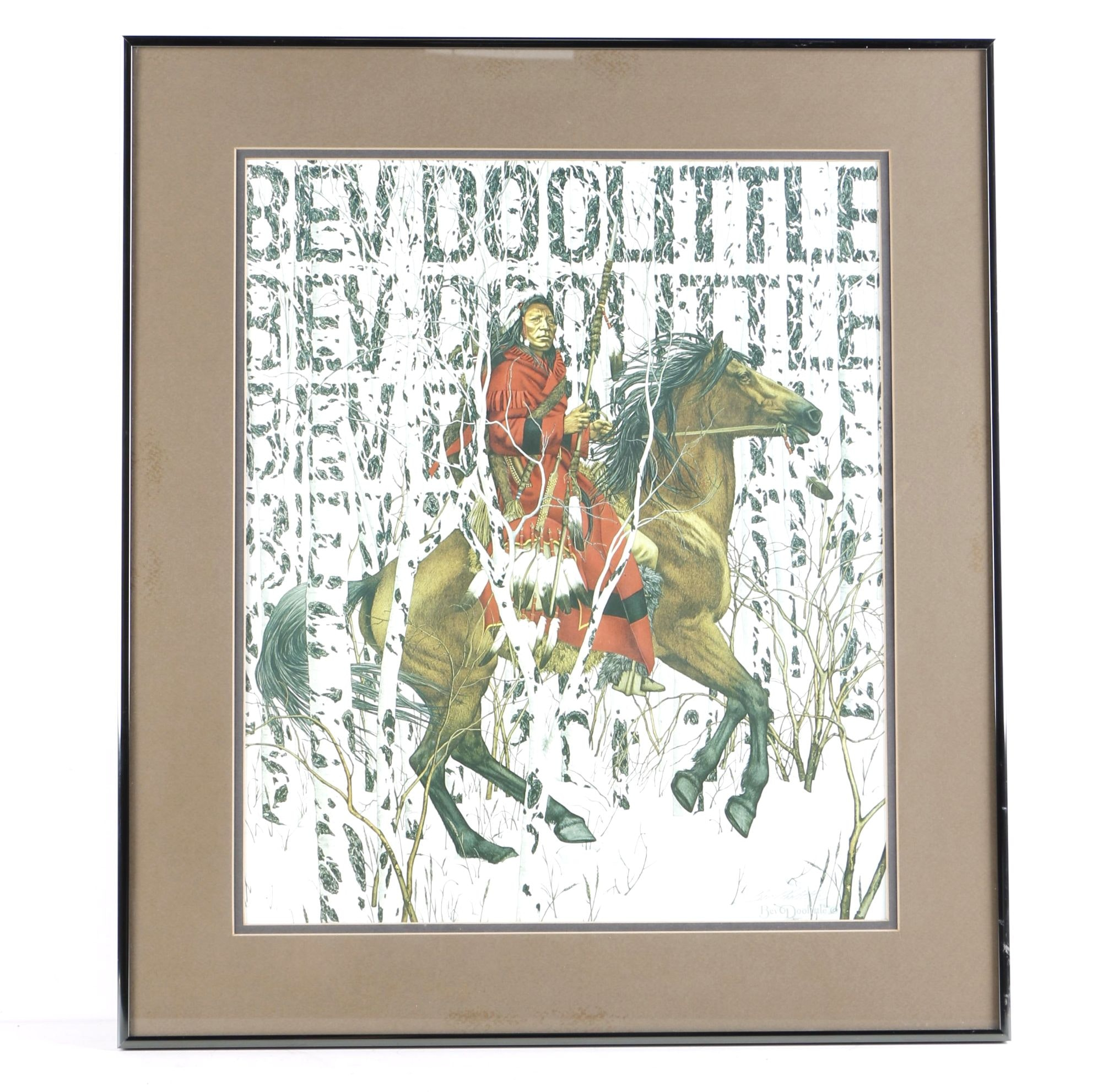 """After Bev Doolittle Giclee Print """"The Art of Camouflage"""""""
