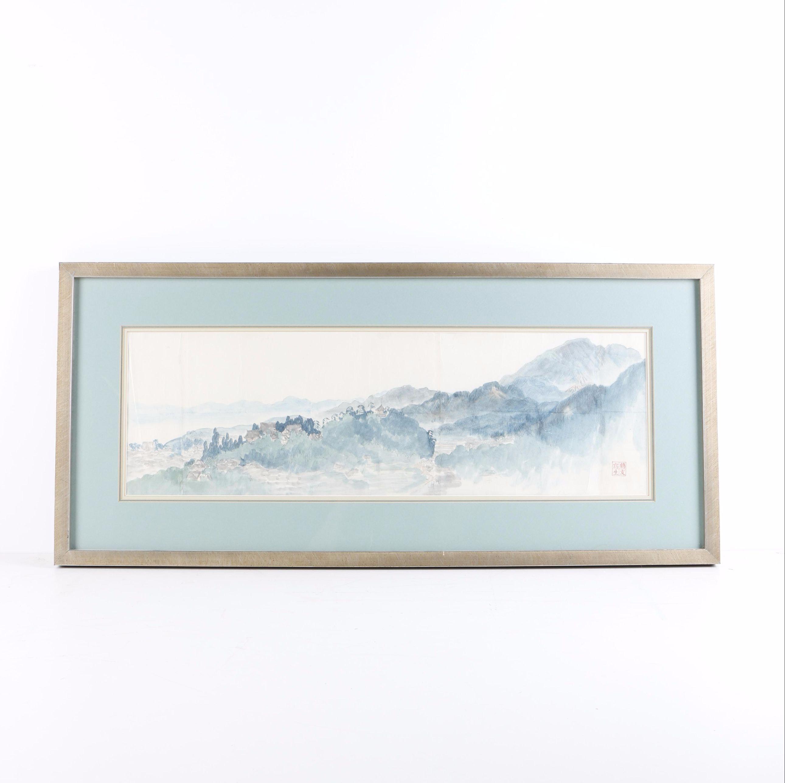 Kakuyu Shoda Watercolor and Graphite on Paper Landscape