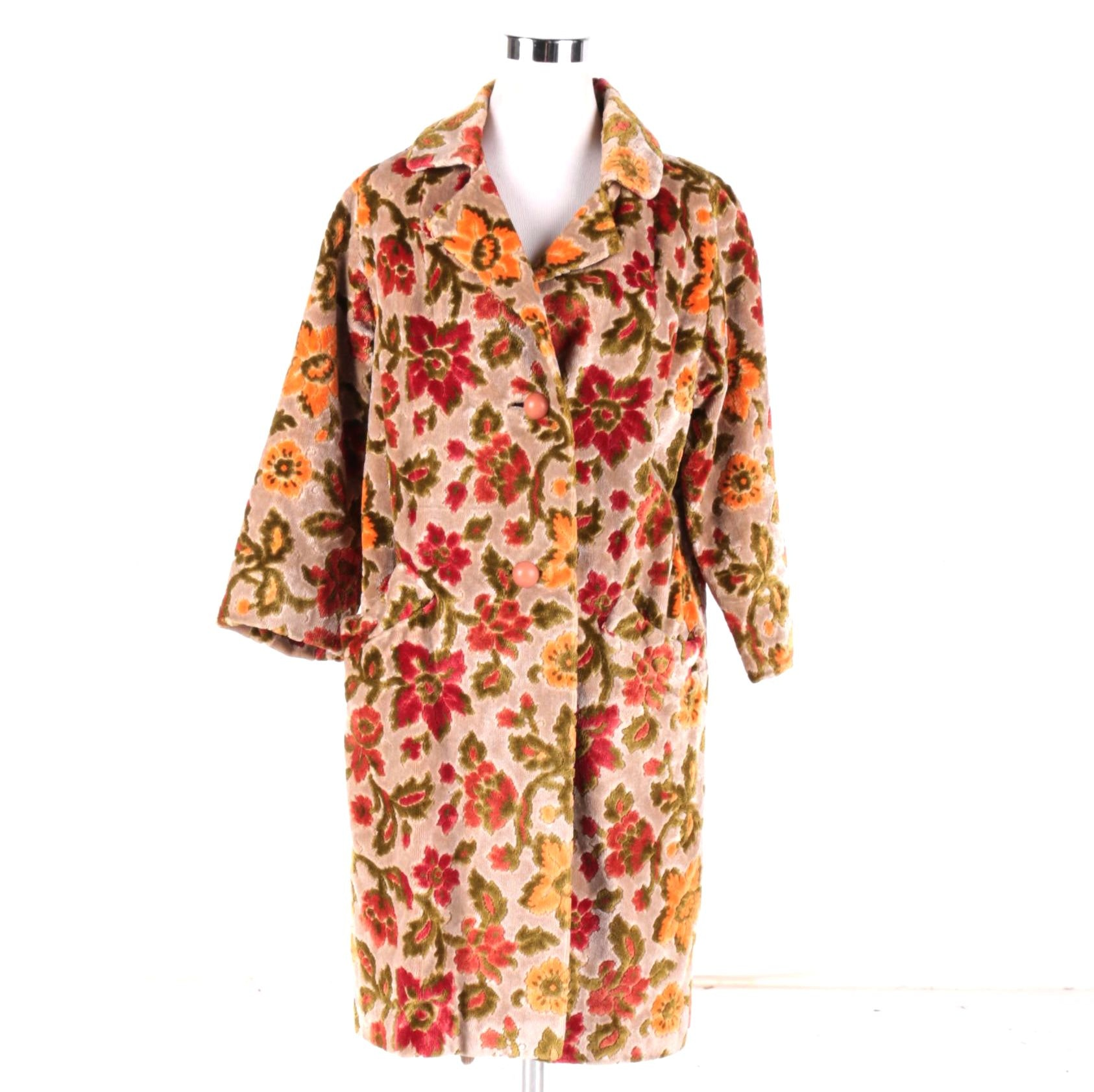 Traelcoats by Naman Vintage Green and Pink Floral Coat