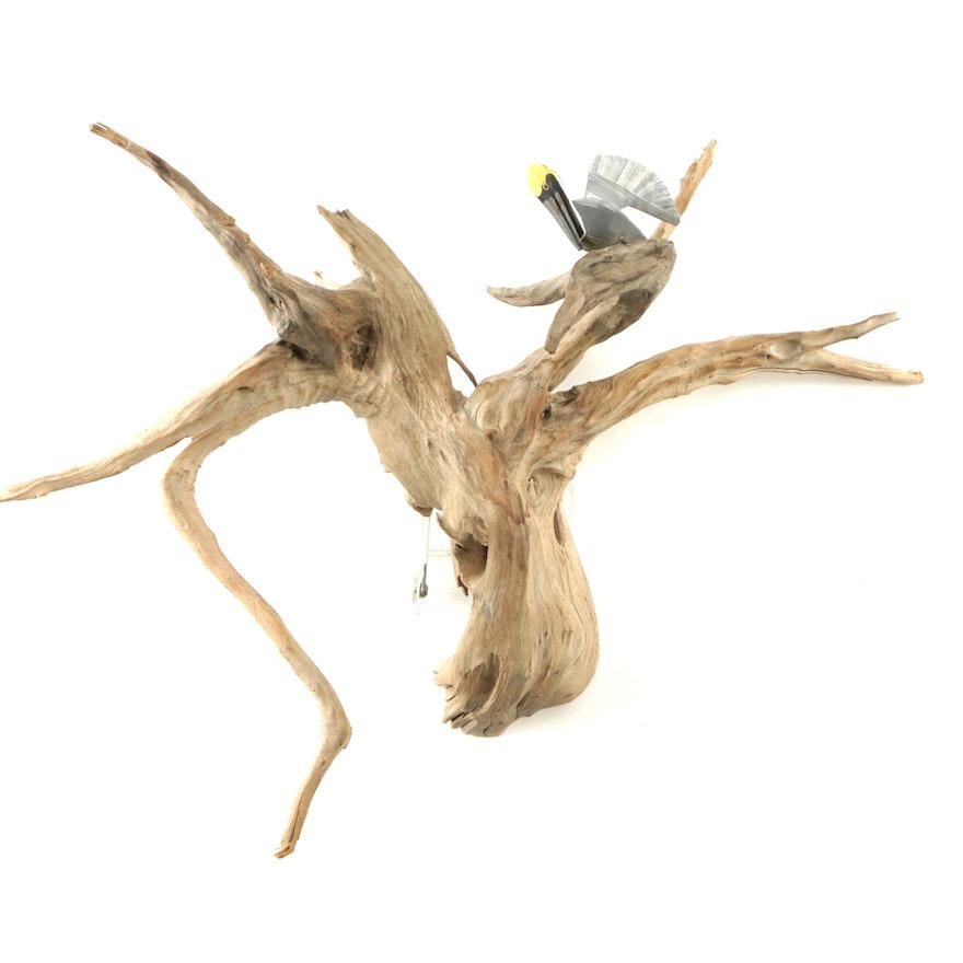 Driftwood Wall Hanging Sculpture