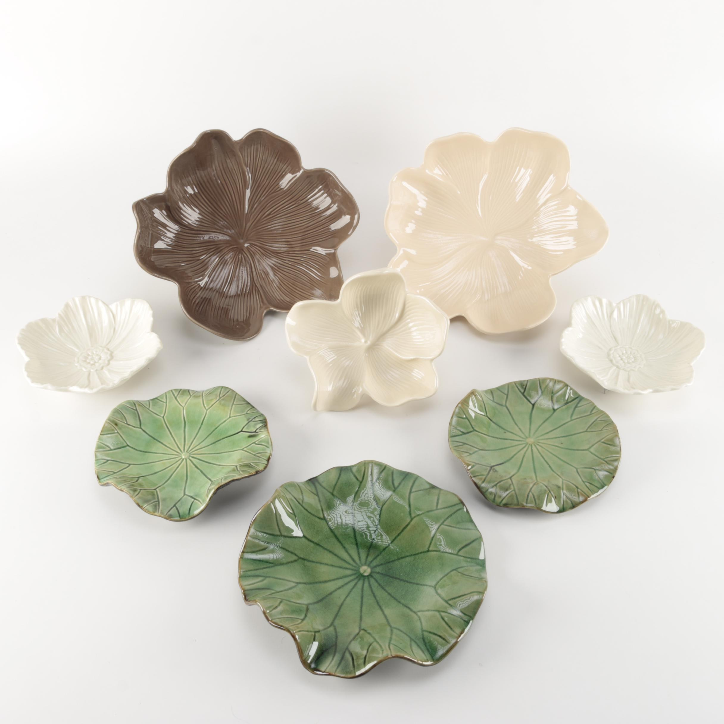 Arhaus Flower and Lily Pad Dishes
