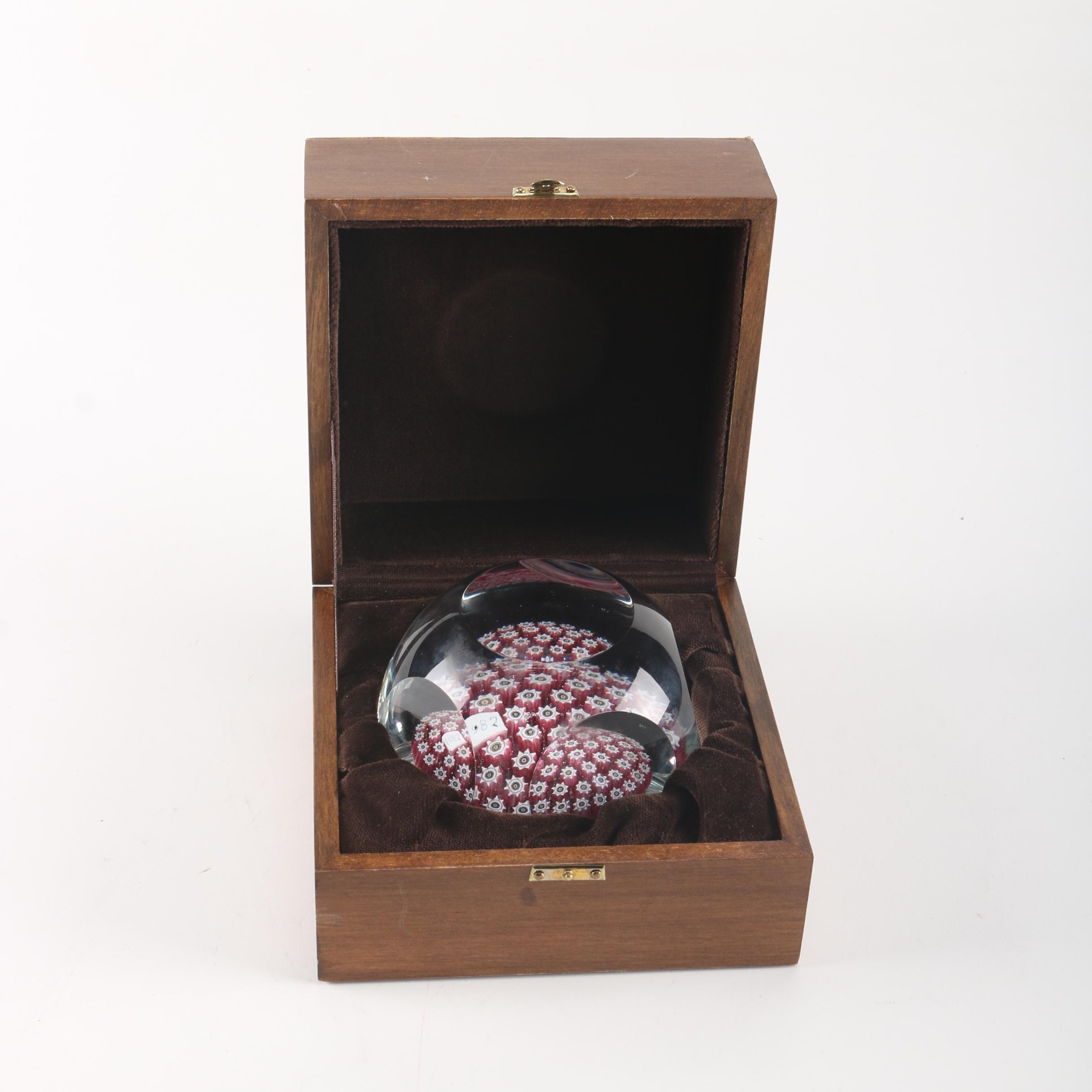 Murano Art Glass Millefiori Paperweight