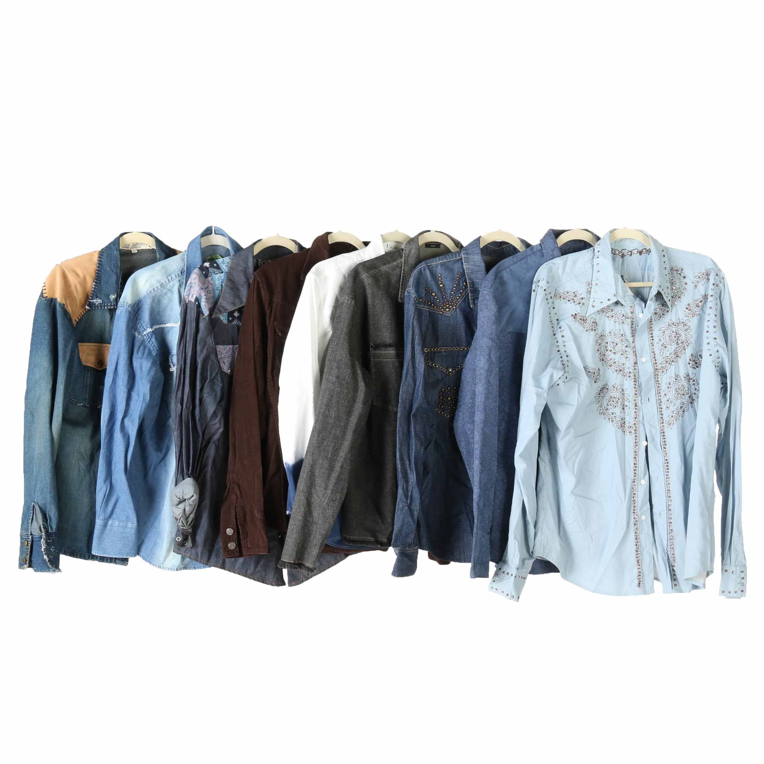Men's Embellished and Button Up Shirts