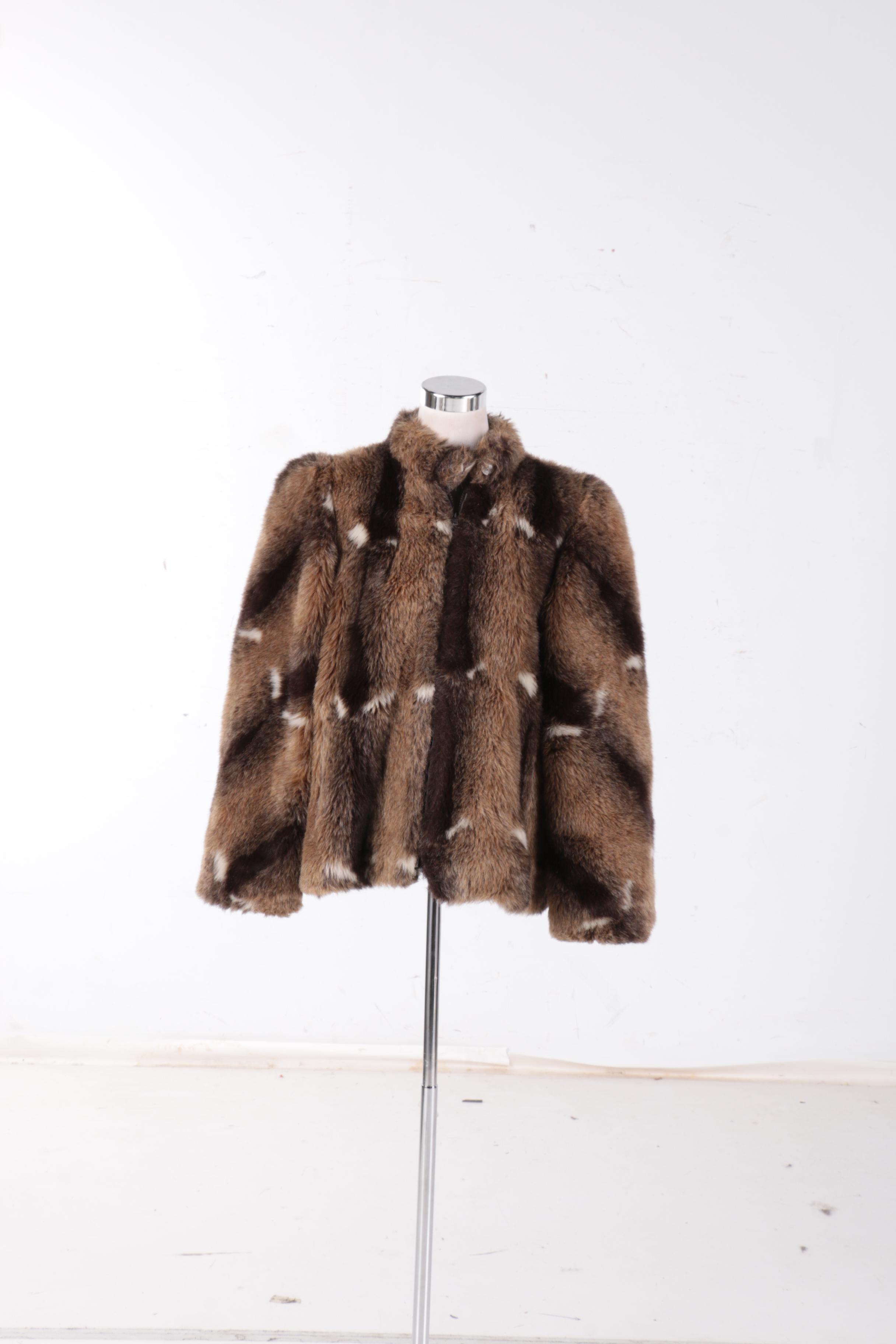 Vintage Jordache Faux Fur Coat