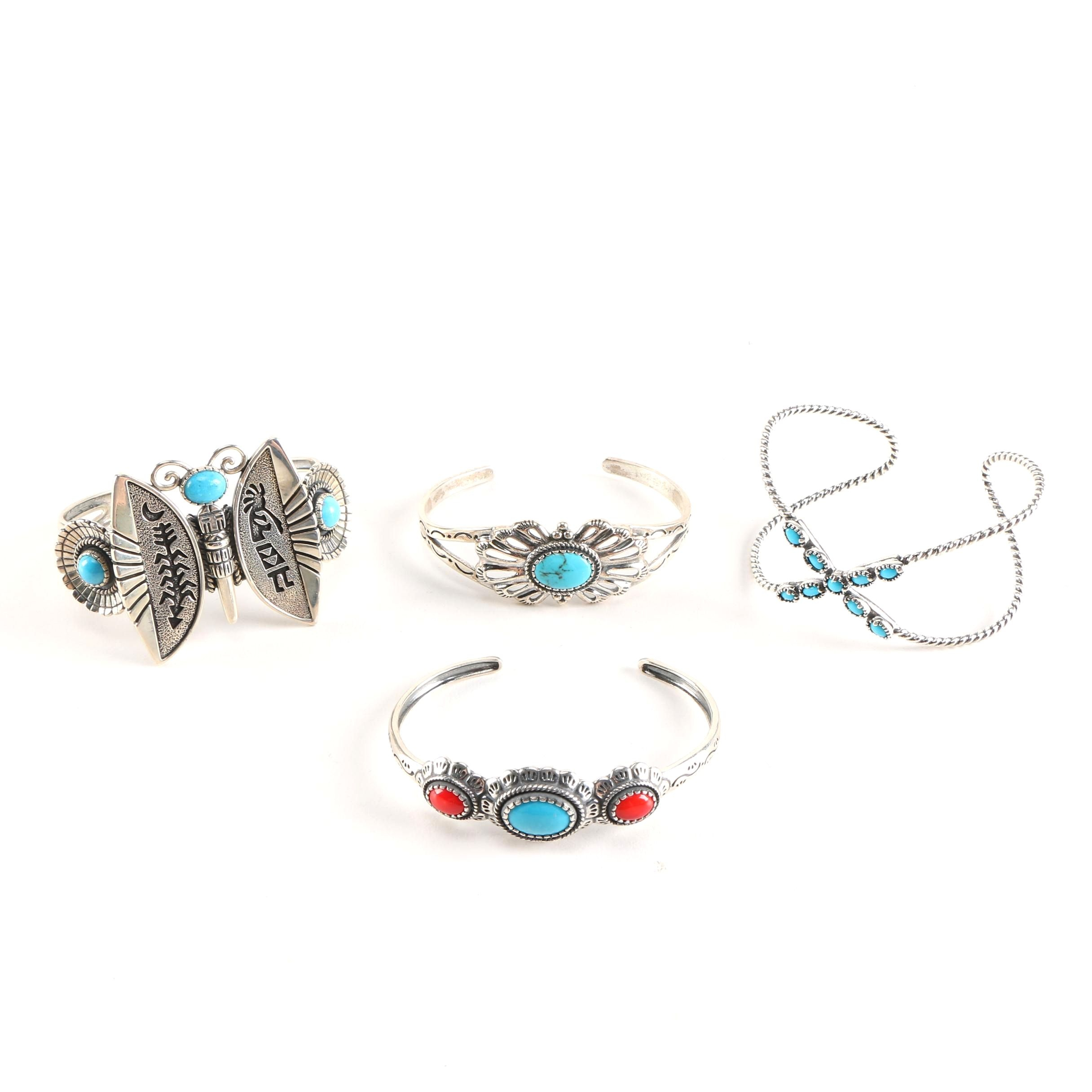 Carolyn Pollack Sterling Silver Bracelets with Gemstone Accents
