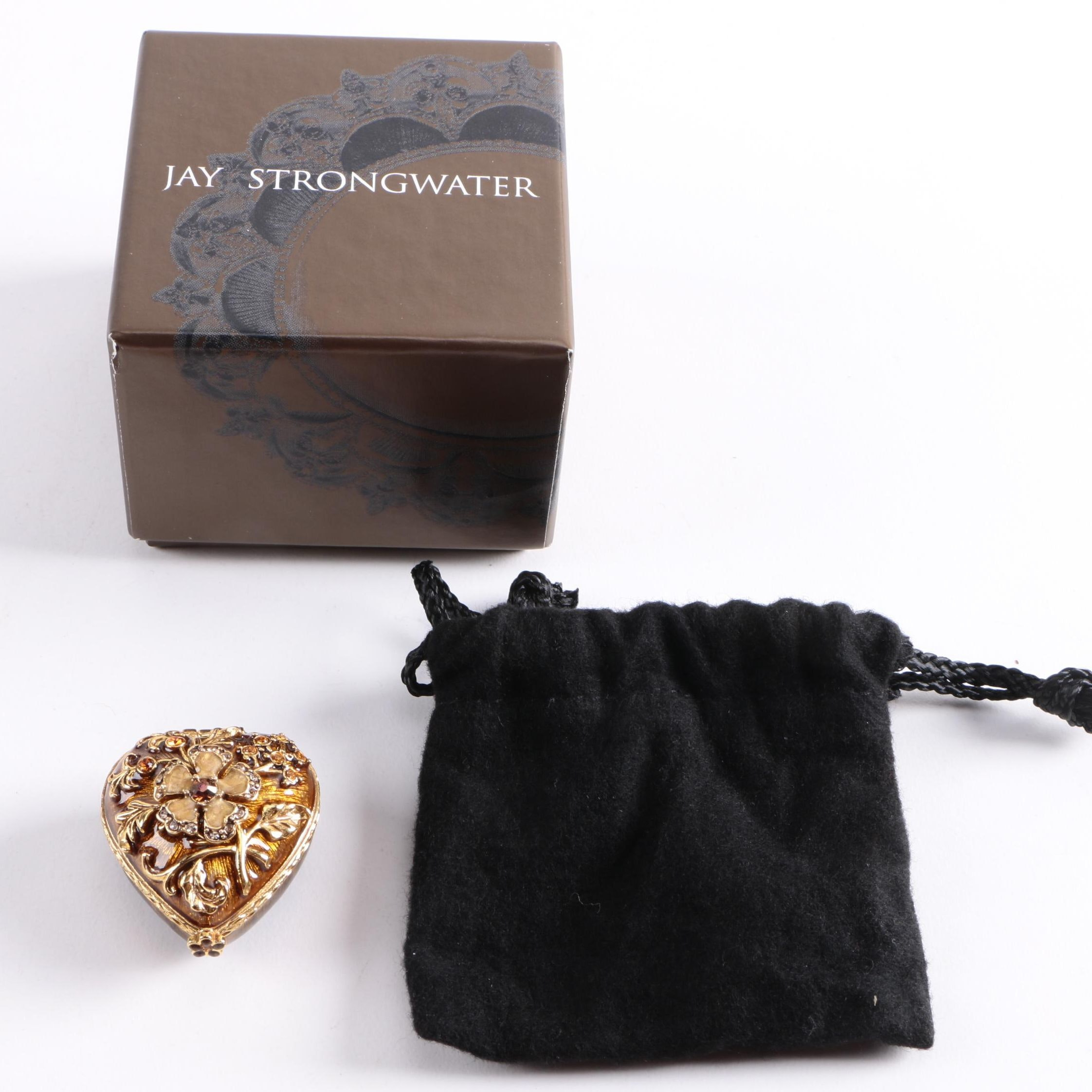 Jay Strongwater Small Heart Shaped Trinket Box
