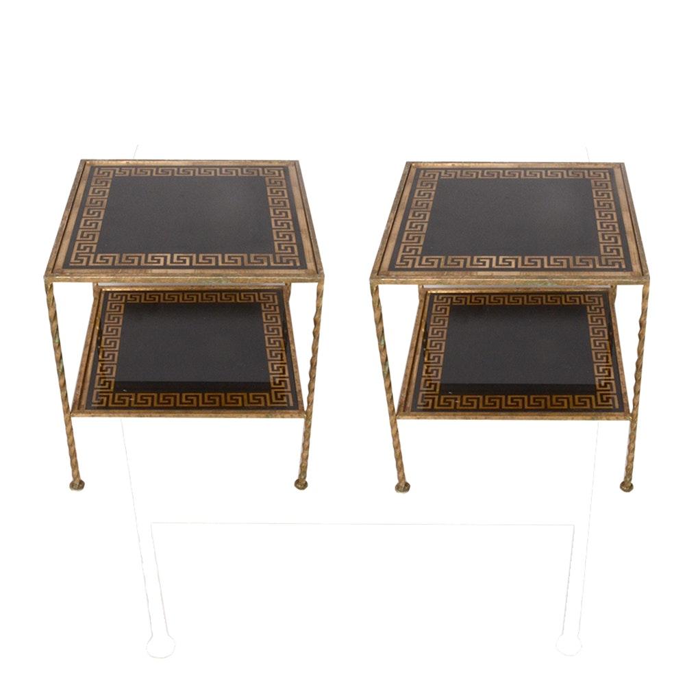 Pair of Vintage Metal Side Tables