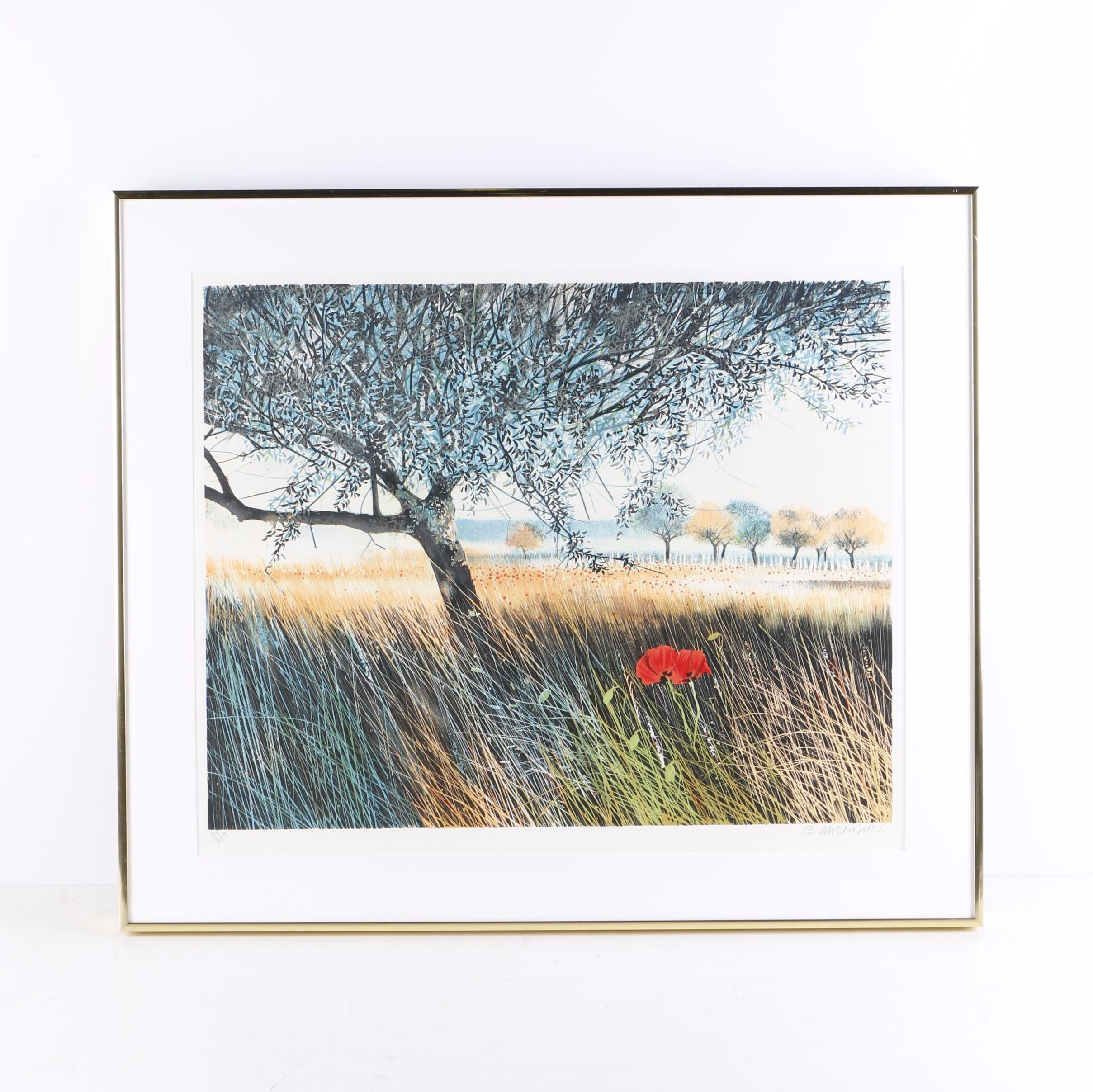 """Gilbert Michaud Limited Edition Lithograph """"Coquelicots"""""""