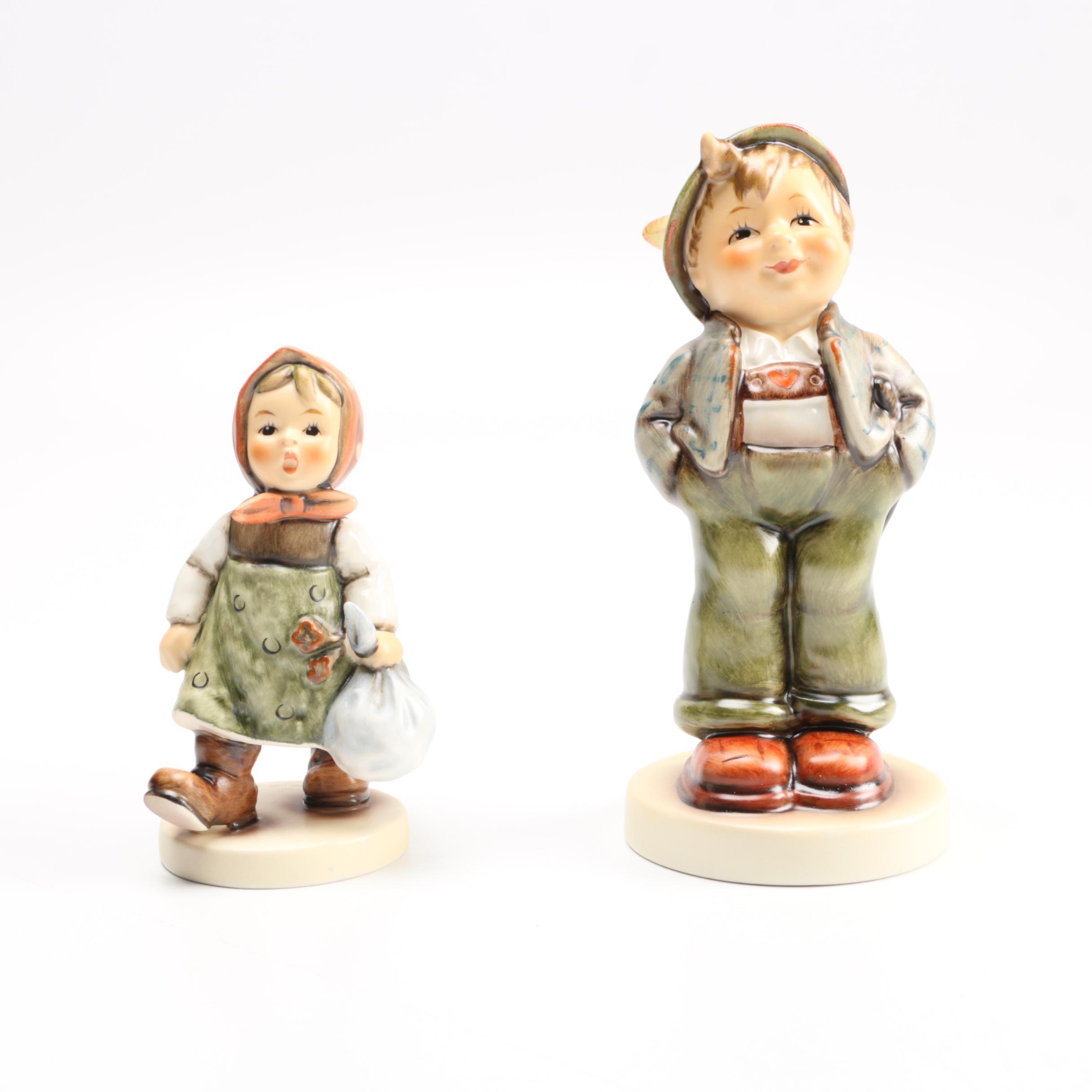 "Hummel Figurines Exclusive Edition ""Hello World"" and ""Grandma's Girl"""