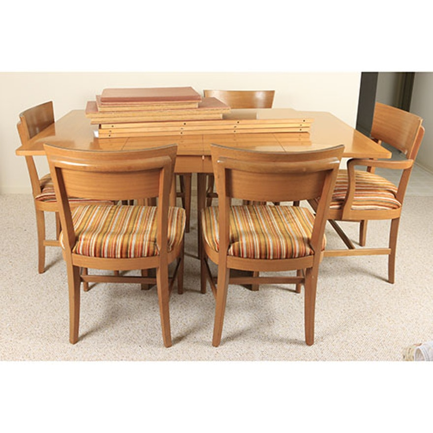 """Mid Century Modern """"The Watertown Slide"""" Dining Table And"""