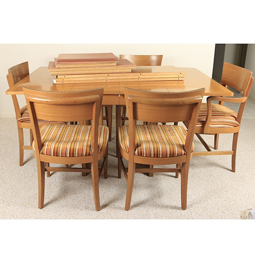 Mid Century Modern The Watertown Slide Dining Table And