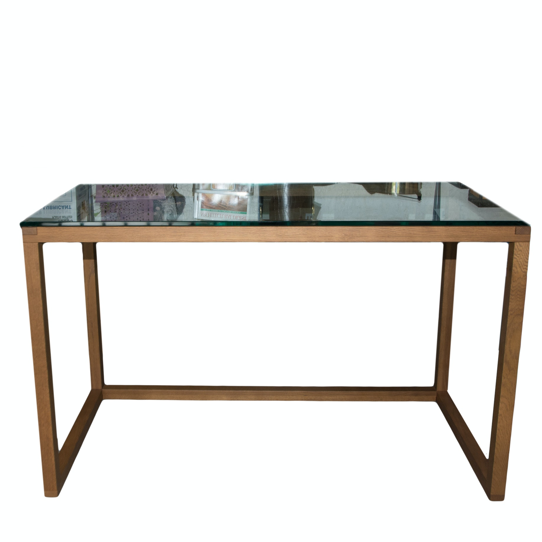 Modernist Glass Top Desk