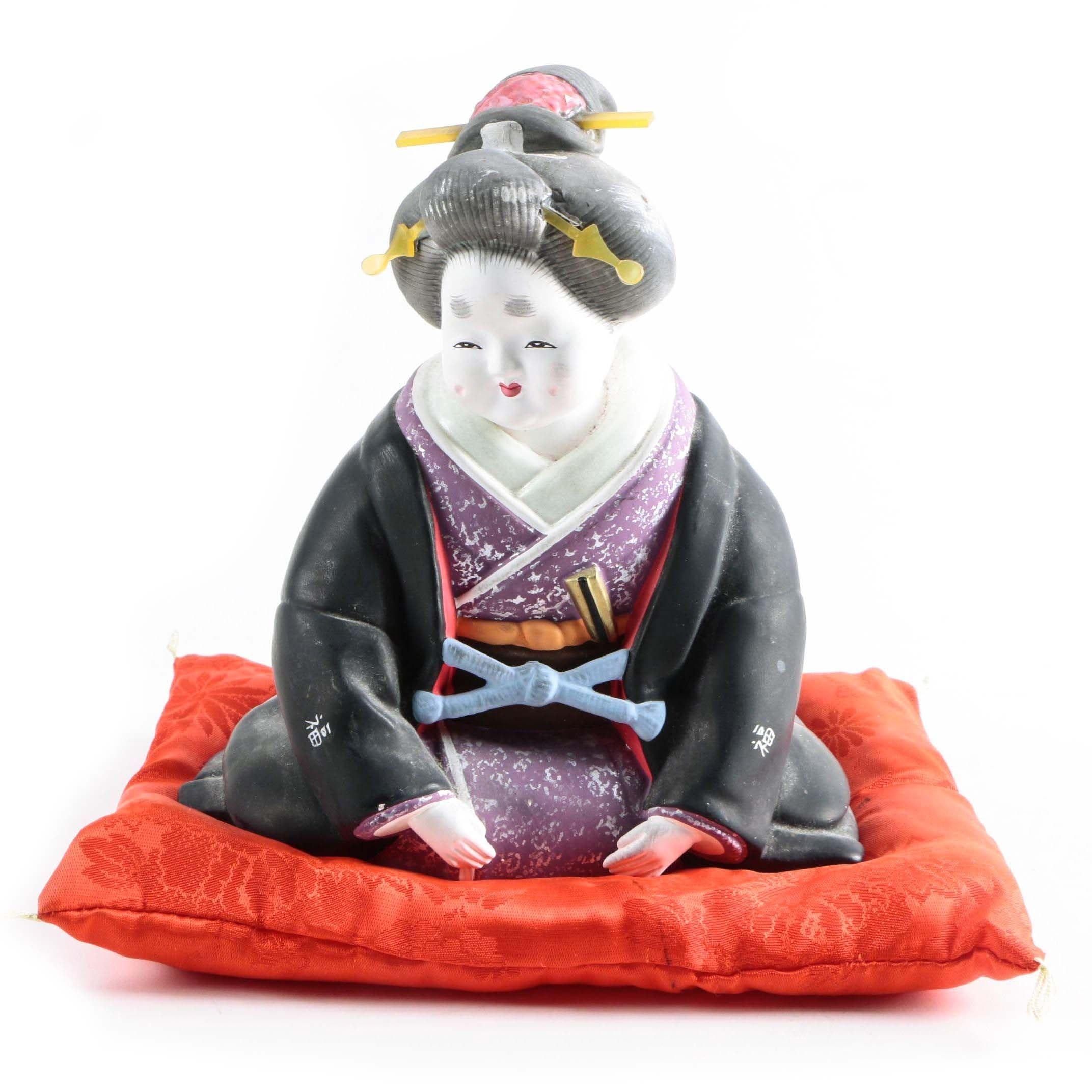 Asian Inspired Ceramic Figurine