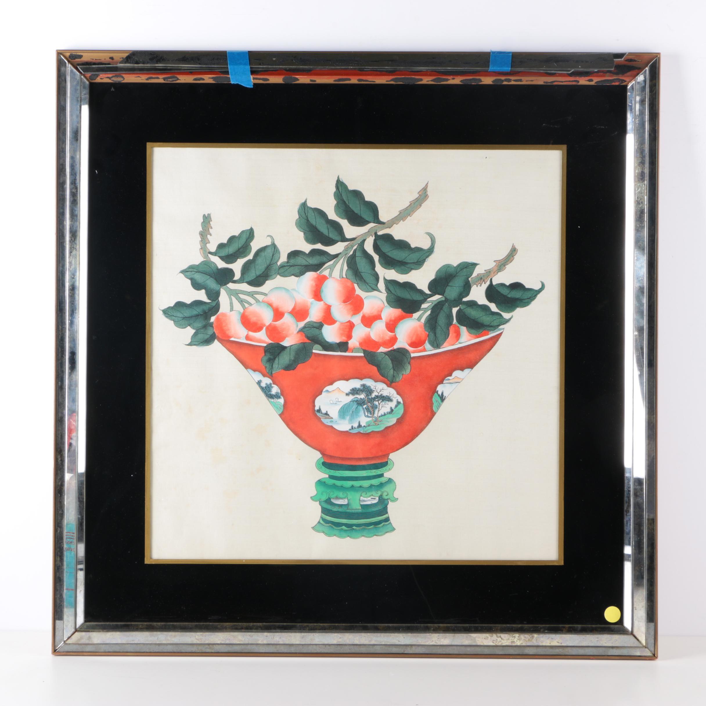 Gouache Painting on Silk