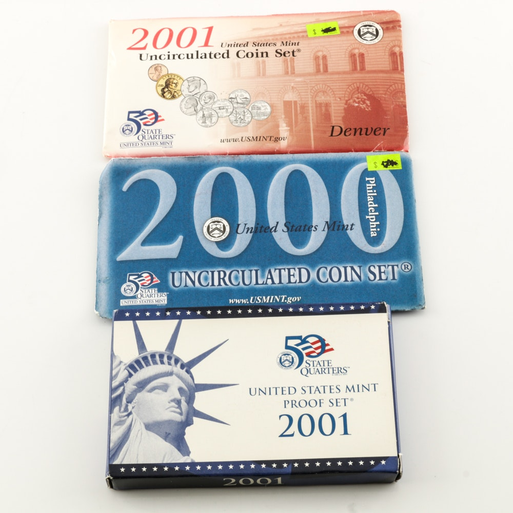 2001 Uncirculated Coin and Proof Sets from the United States Mint