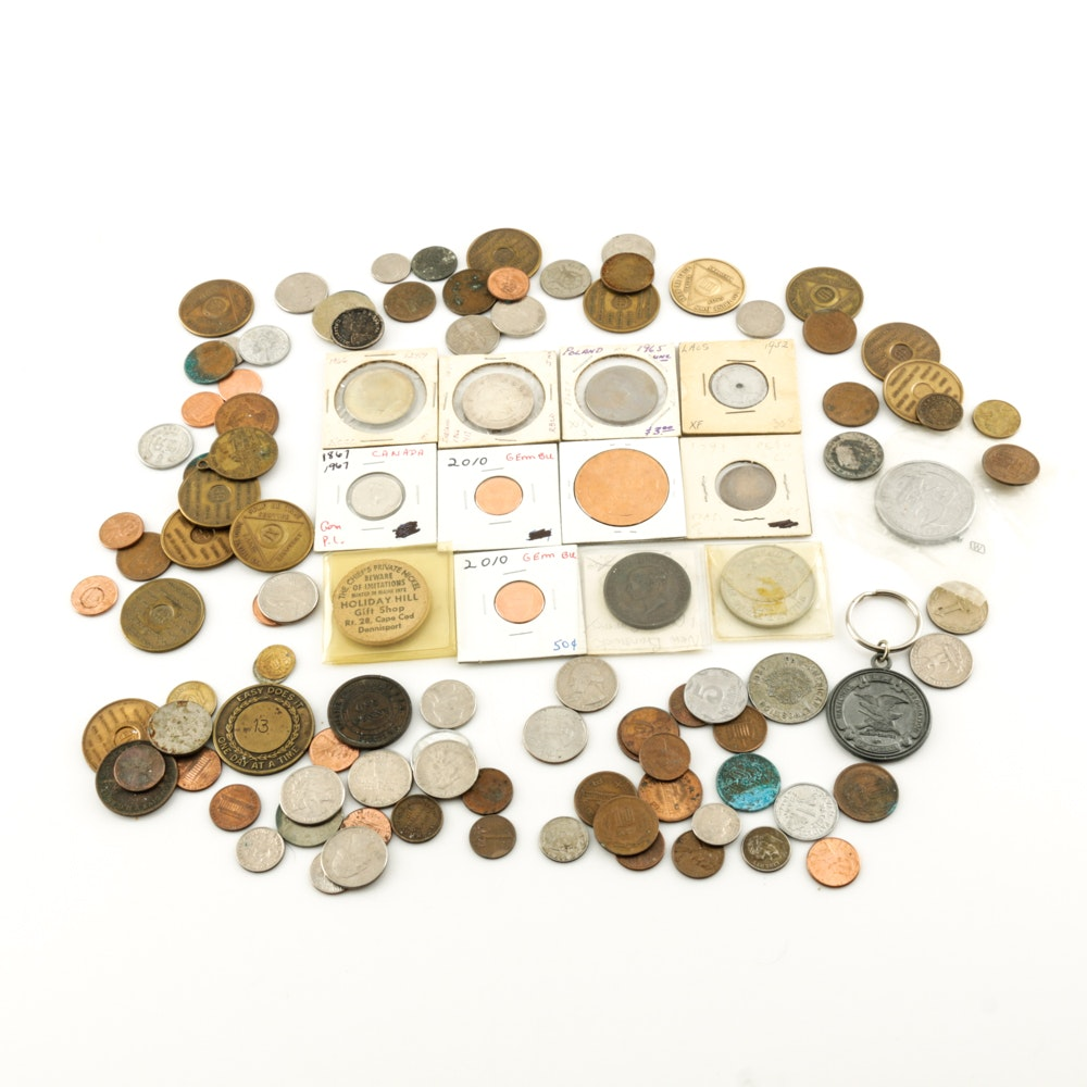 Assorted Coins and Tokens