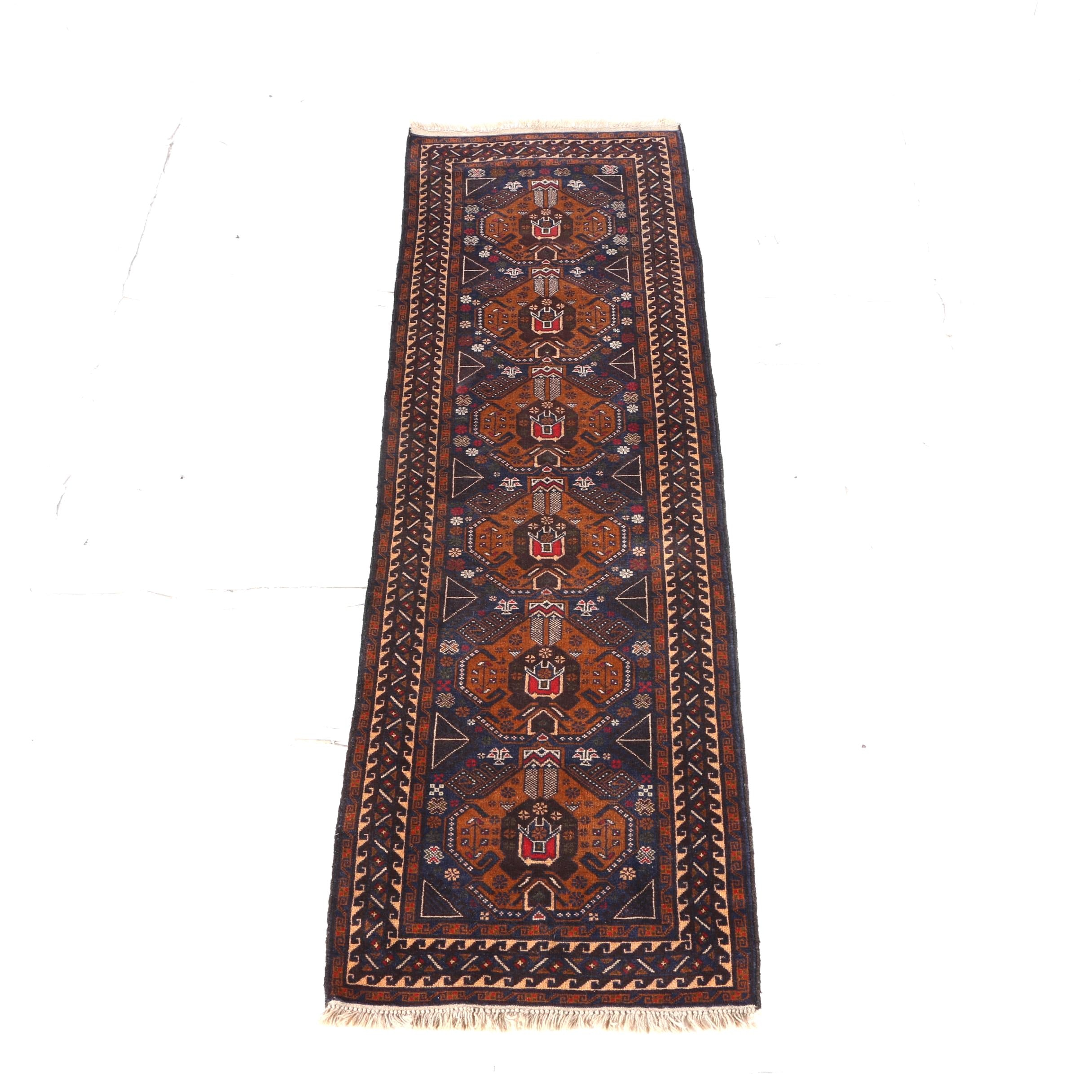 Hand-Knotted Herat Carpet Runner