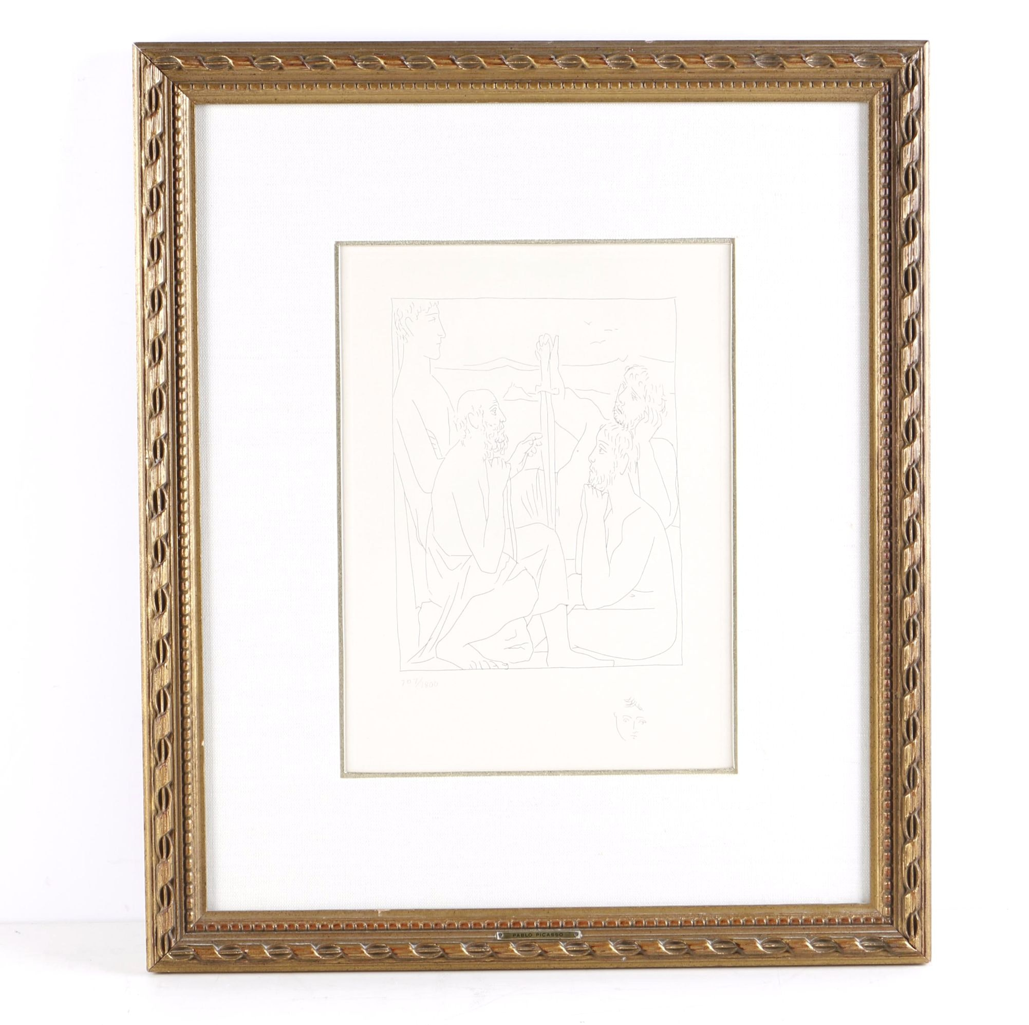 "Restrike After Picasso Limited Edition Etching on Paper ""Nestor's Tales of the Trojan War"""