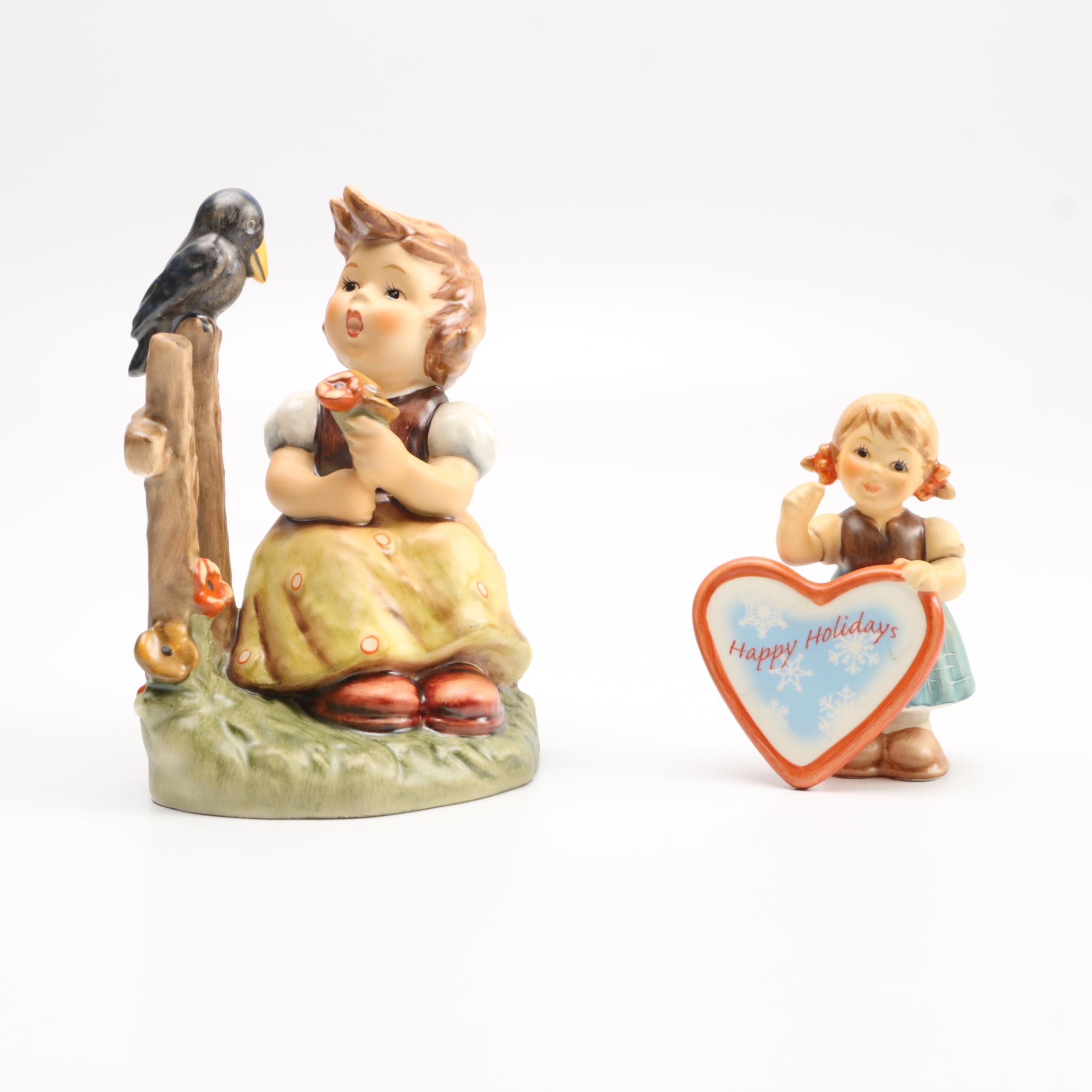 """Hummel Figurines """"Sing With Me"""" and """"Follow Your Heart"""""""