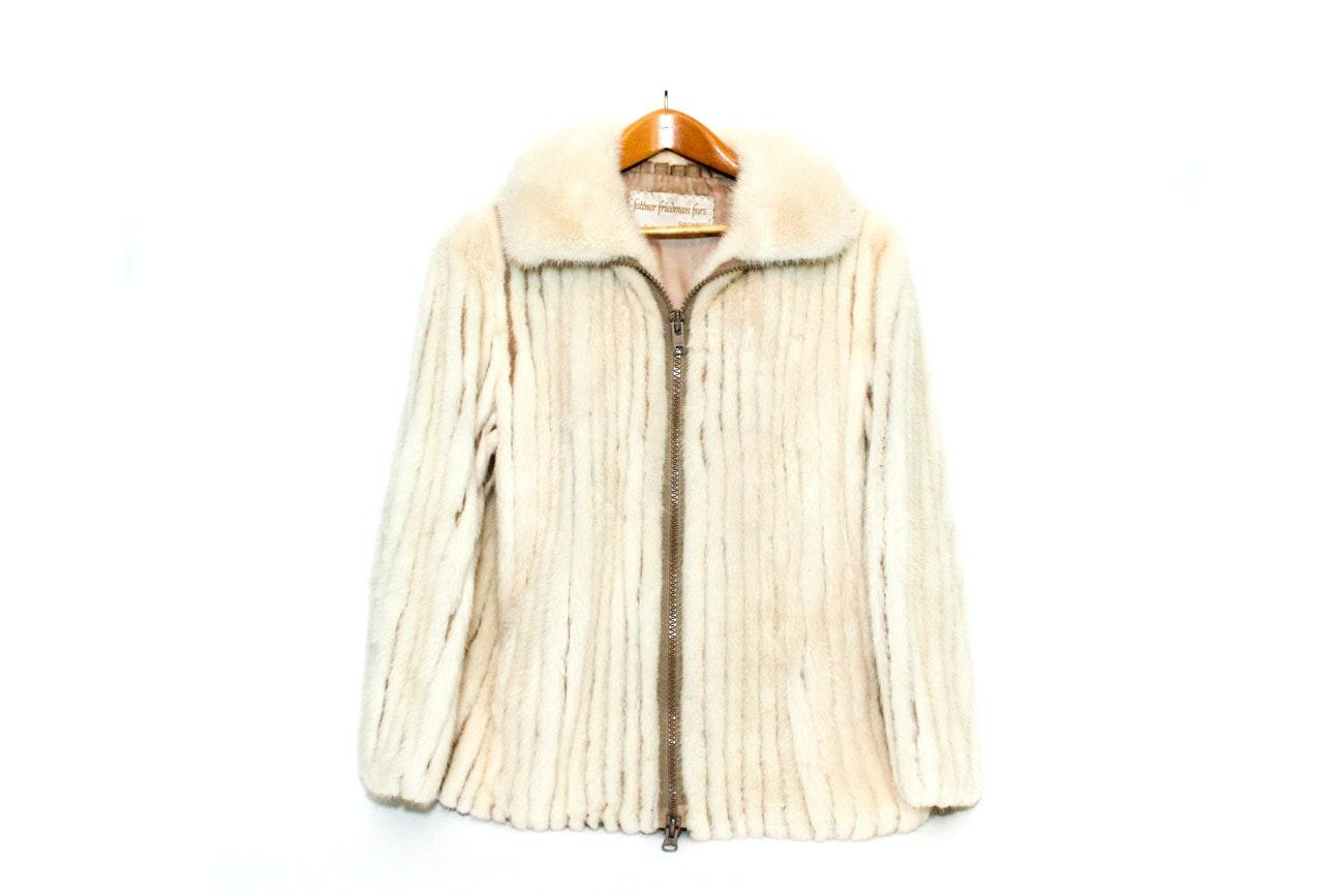 Fettner Friedman White Mink Fur Coat