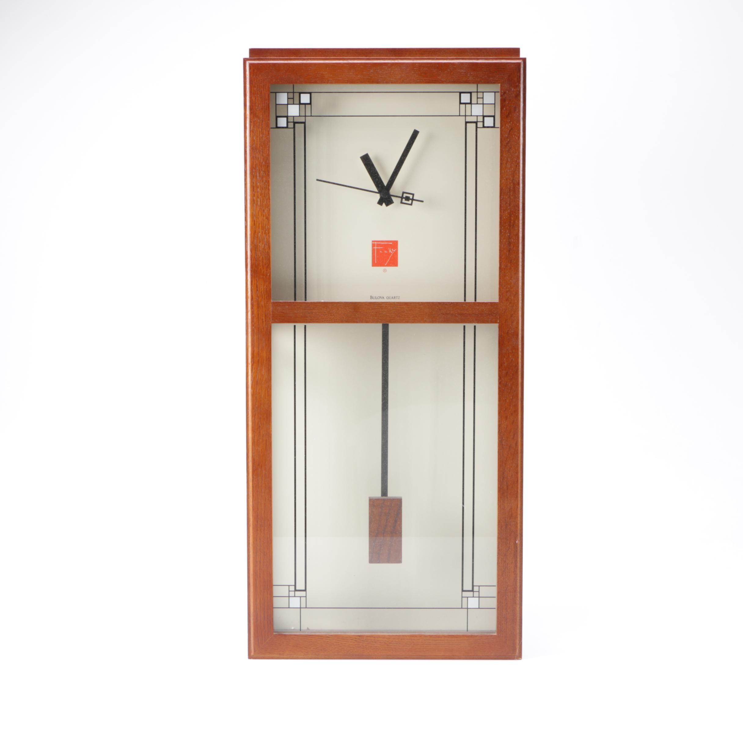 Bulova Quartz Frank Lloyd Wright Clock